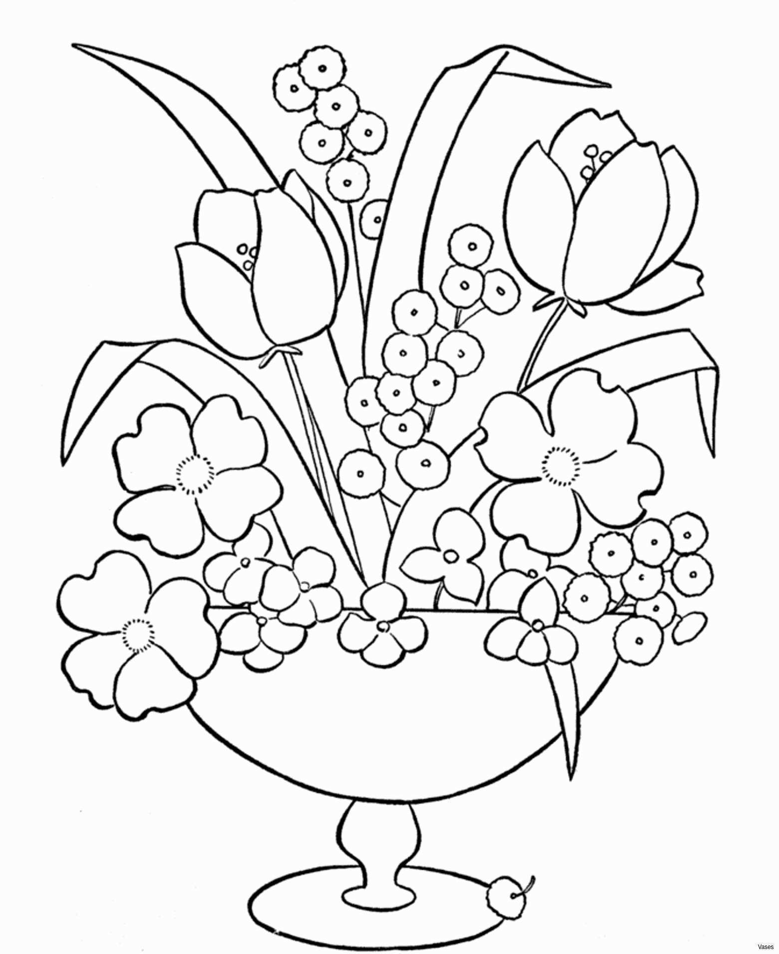 Colour Page for Kids Luxury Cool Vases Flower Vase Coloring Page