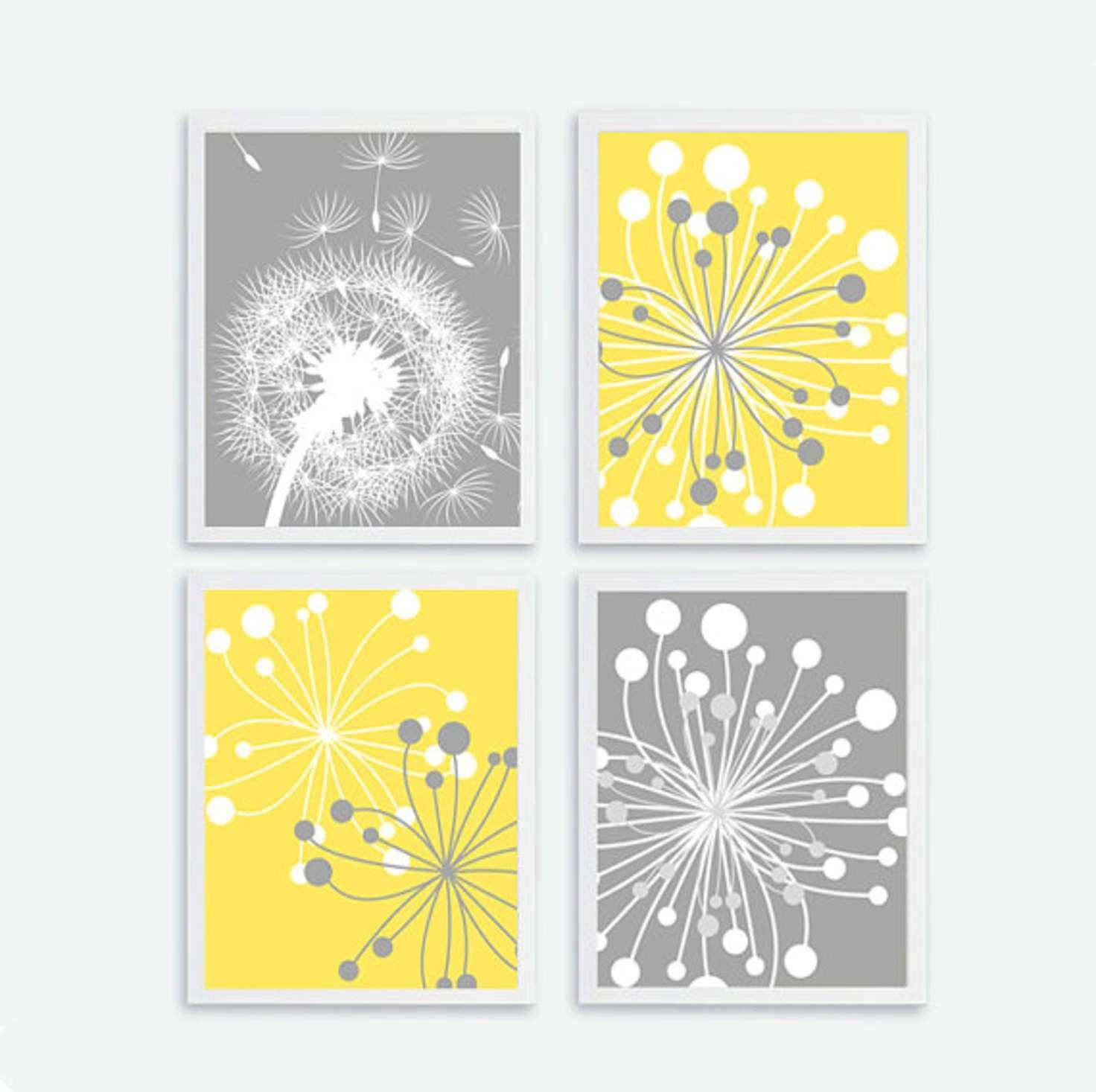 Printable Flower set of 4 Instant Download Flower Wall Art Decor