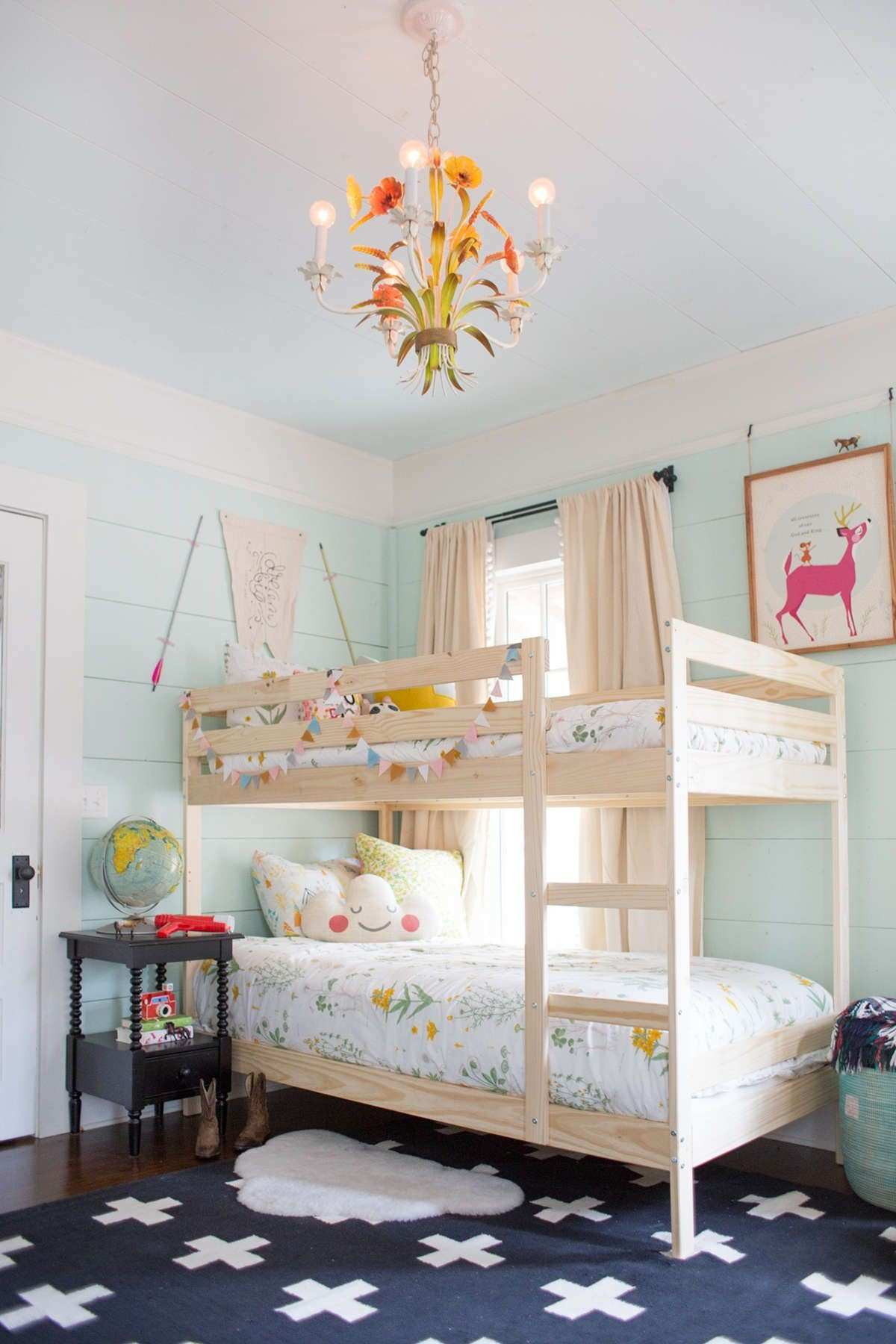 shared room for two kids a baby Pinterest