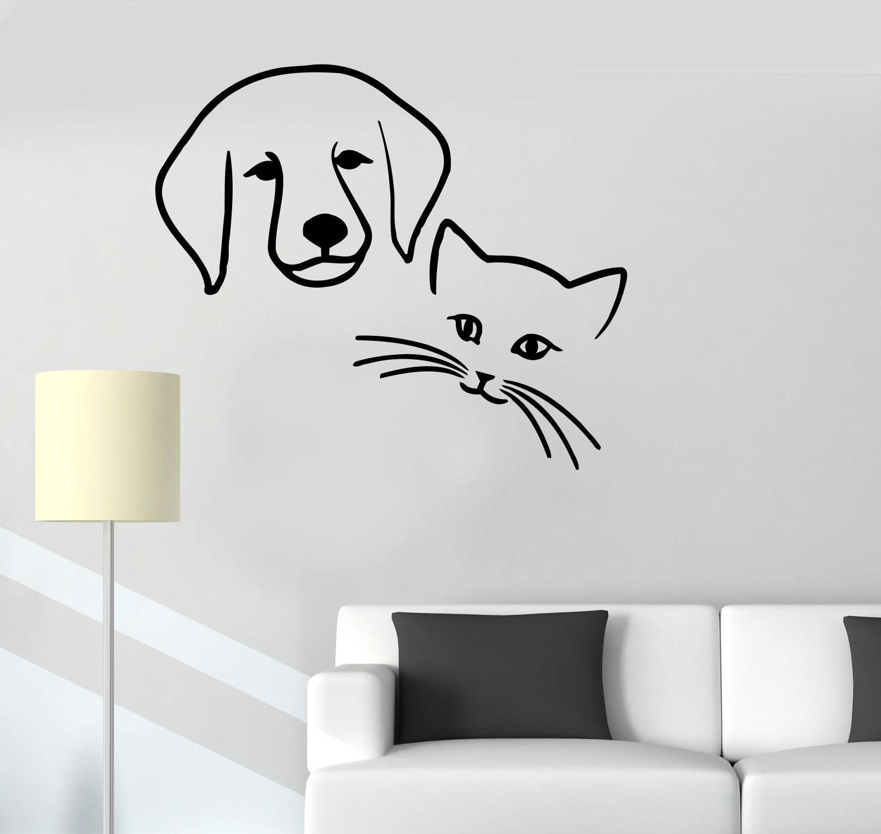 Vinyl Decal Dog Cat Pets Animal Baby Room Kids Veterinary Wall