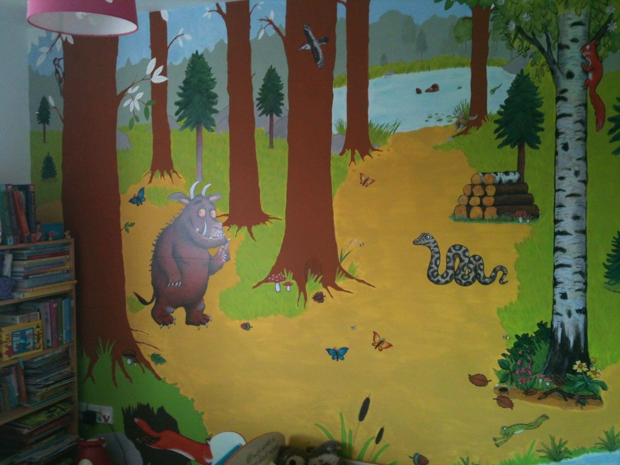 Kids Murals Fresh My Little Girls Gruffalo Bedroom Mural I Hand Painted Background