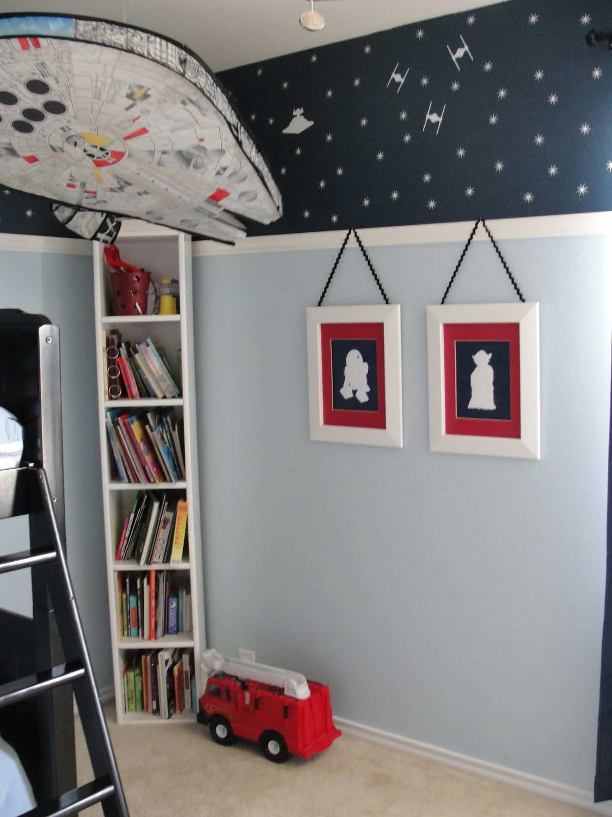 Vinyl prints with red as accent kid room ideas Pinterest