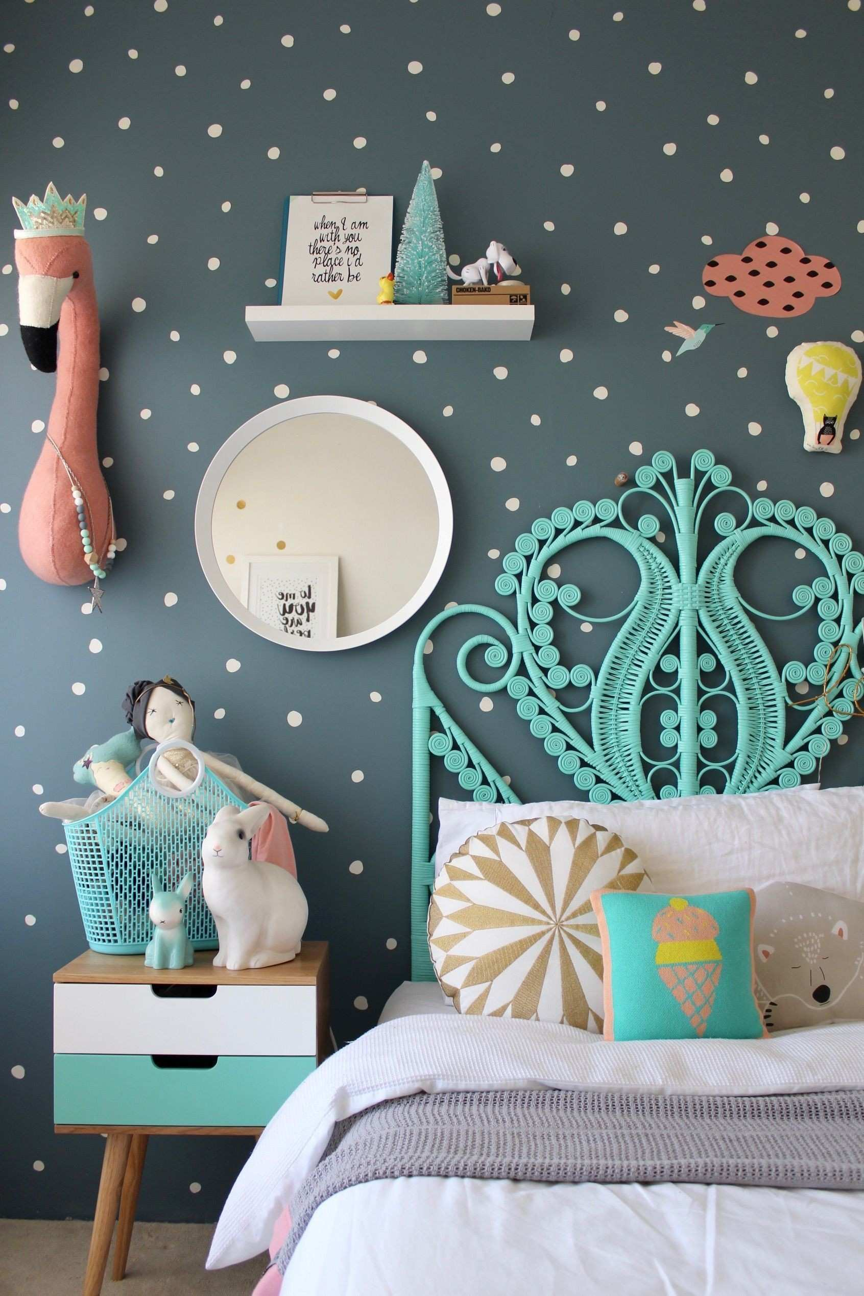 More Fun Childrens Bedroom Ideas for girls on the blog using mimilou