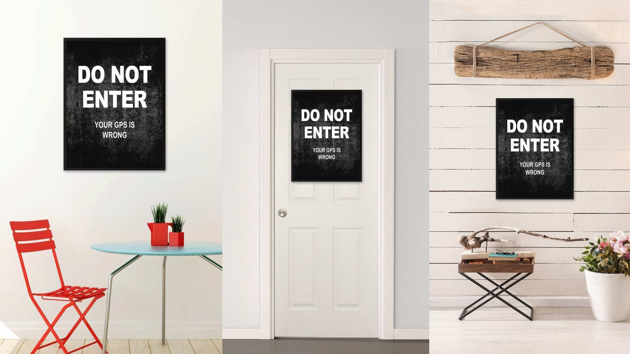 Do Not Enter Funny Sign Wall Art Home Decoration Kids Room