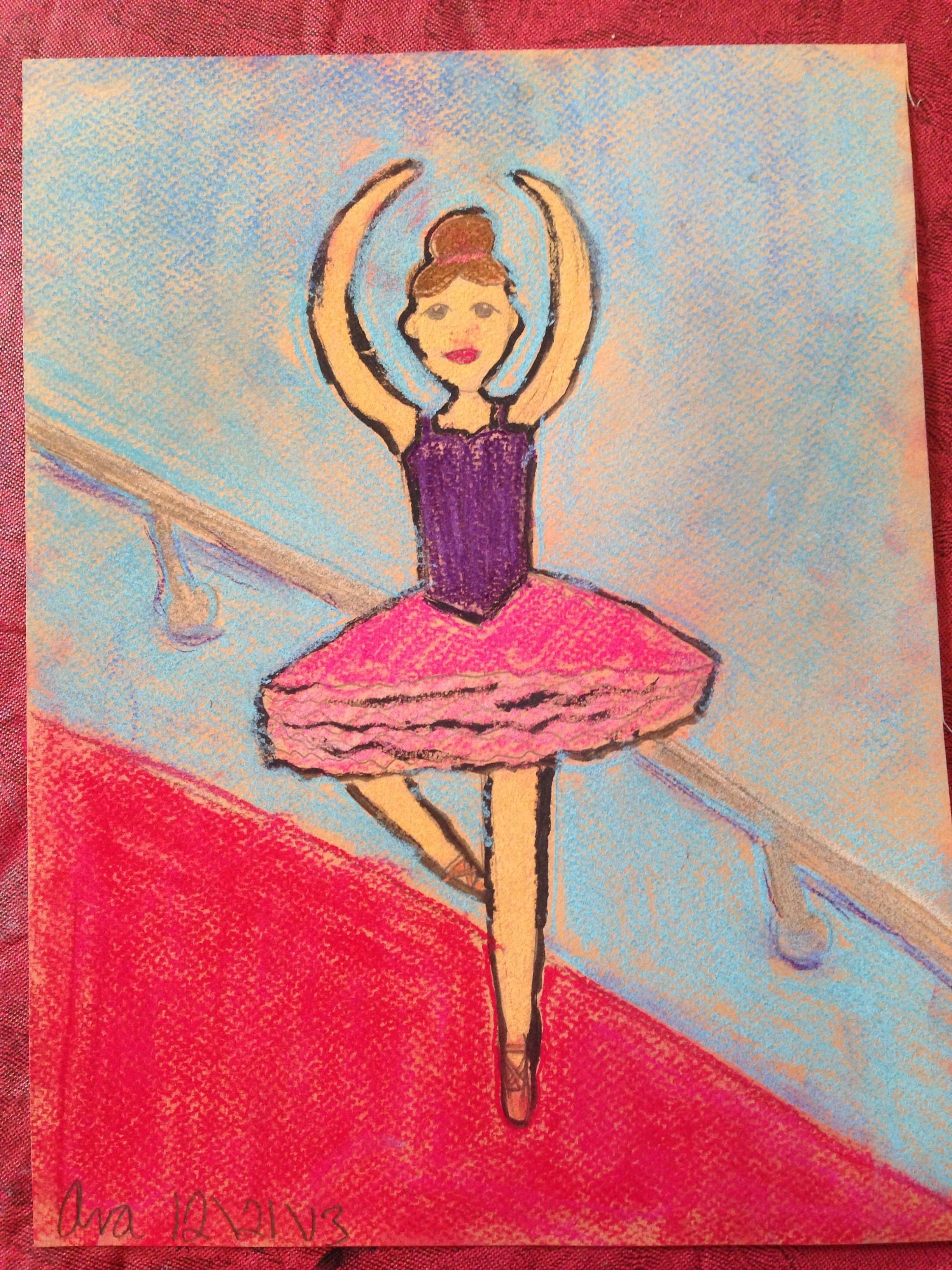 Degas Dancer Art lesson this awesome pastel was done by my 9 year