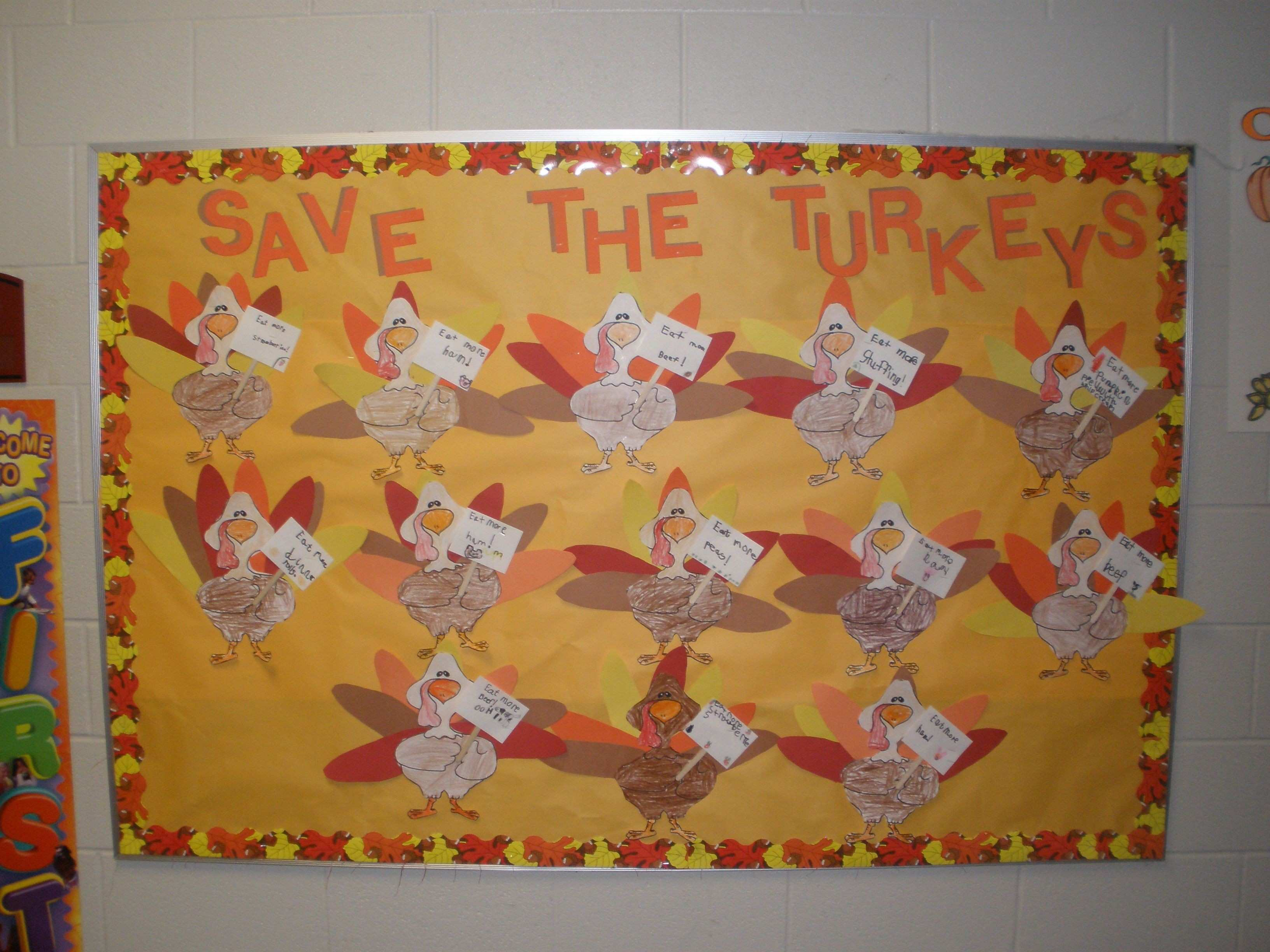 Save the Turkeys My first graders loved this They each colored a