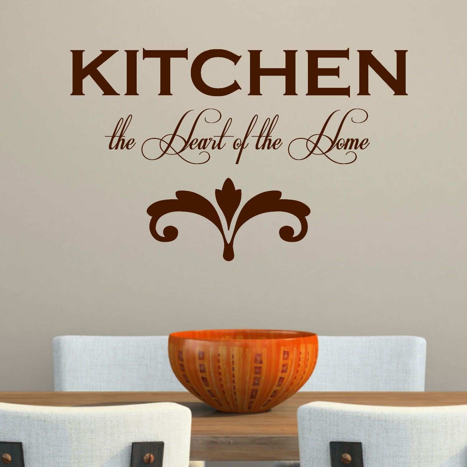 Kitchen the Heart of the Home Wall Decal