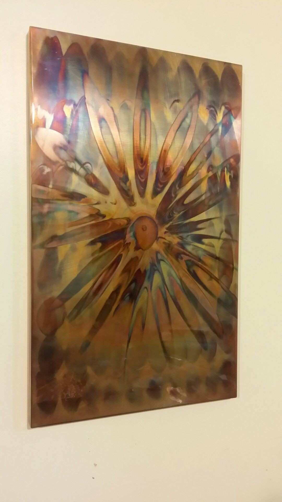 Flame painted copper Wall Art …