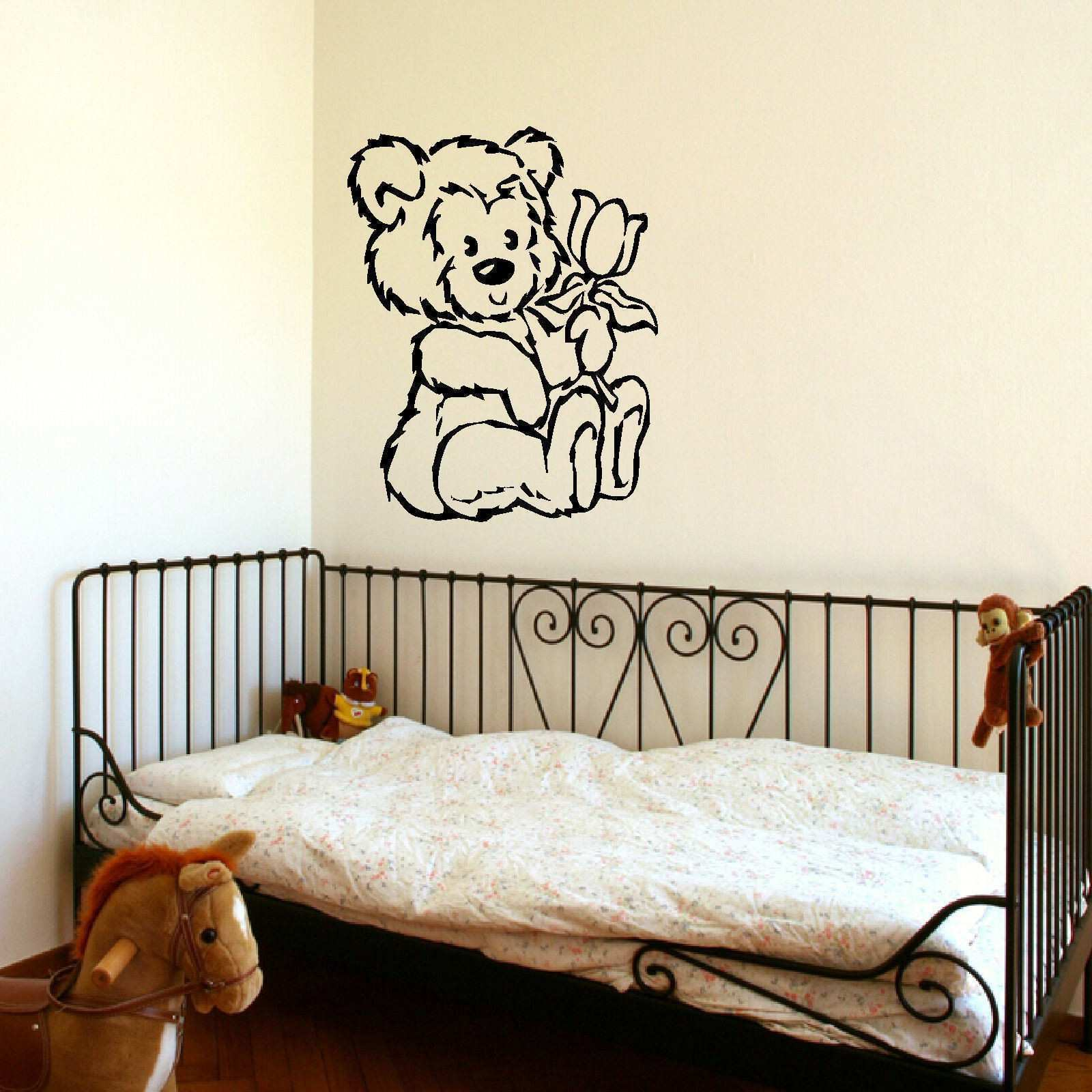 D309 Nursery Teddy Bear Baby Wall Art Stencil Sticker Transfer