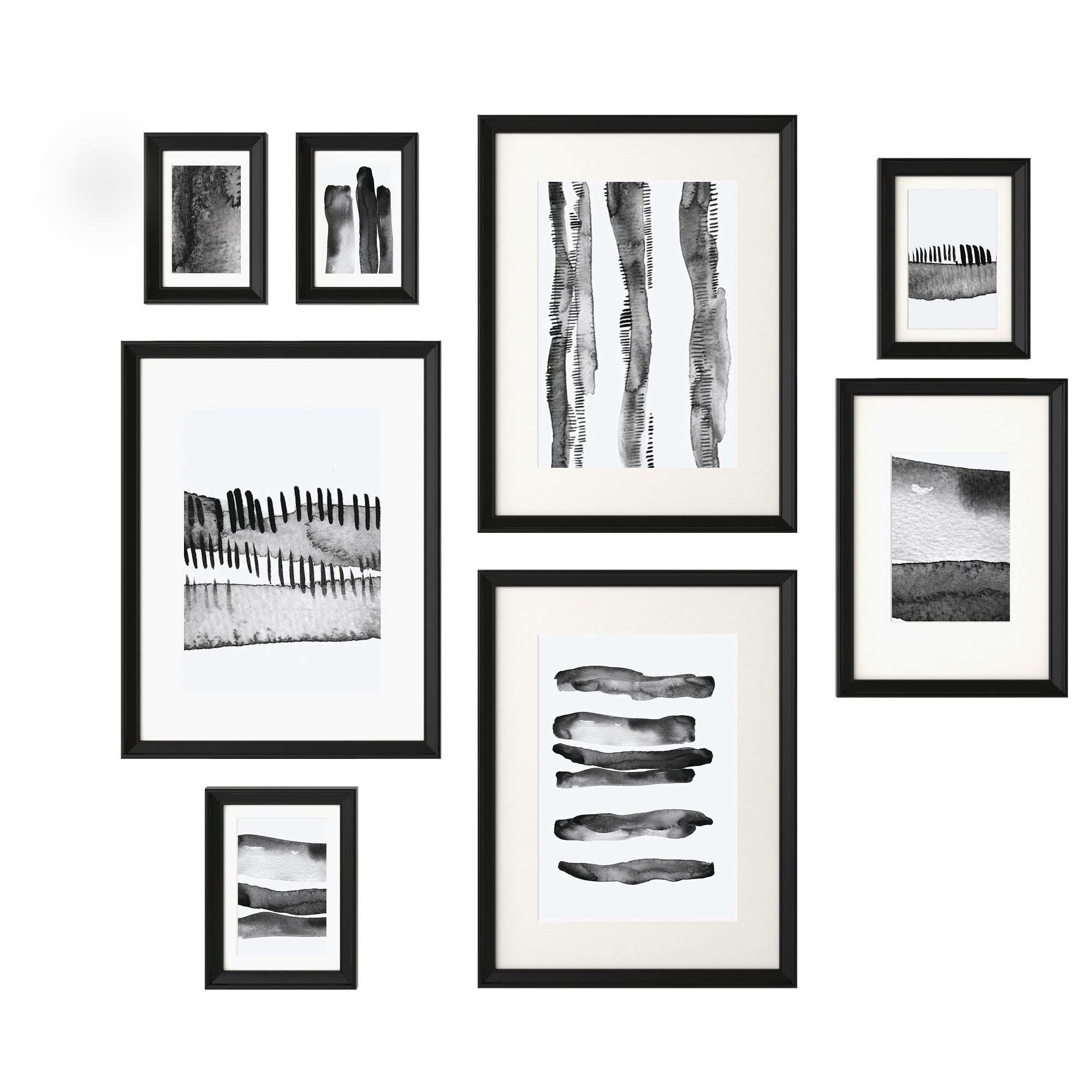 "KNOPP""NG Frame with poster set of 8 IKEA"