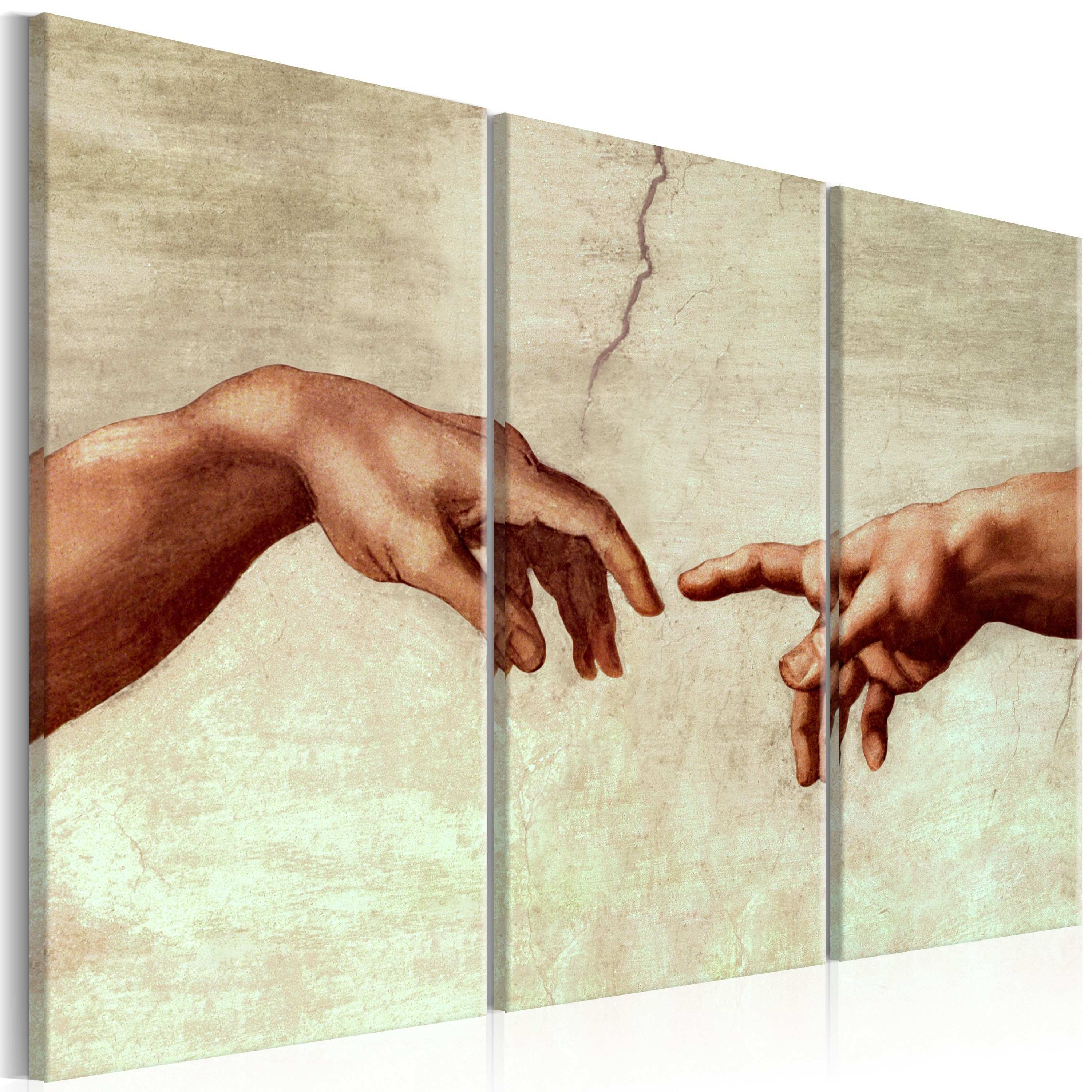 Art Work Touch of God Sacred art Canvas Prints
