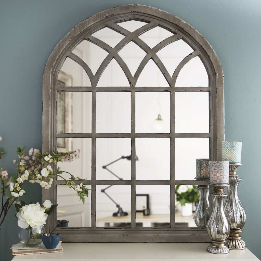 Large Dining Room Mirror Awesome Distressed Cream Sa Arch Mirror Pinterest