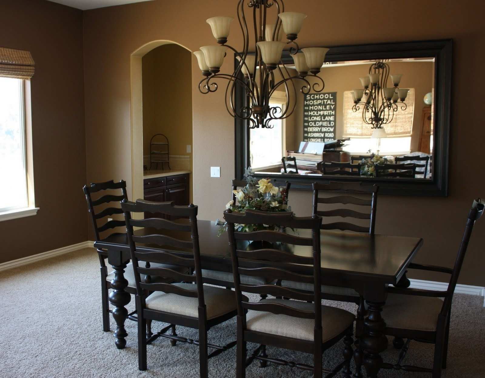 Large Dining Room Wall Mirrors Elegant Dining Room Wall Decor Ideas  Pinterest Modern Decorating With