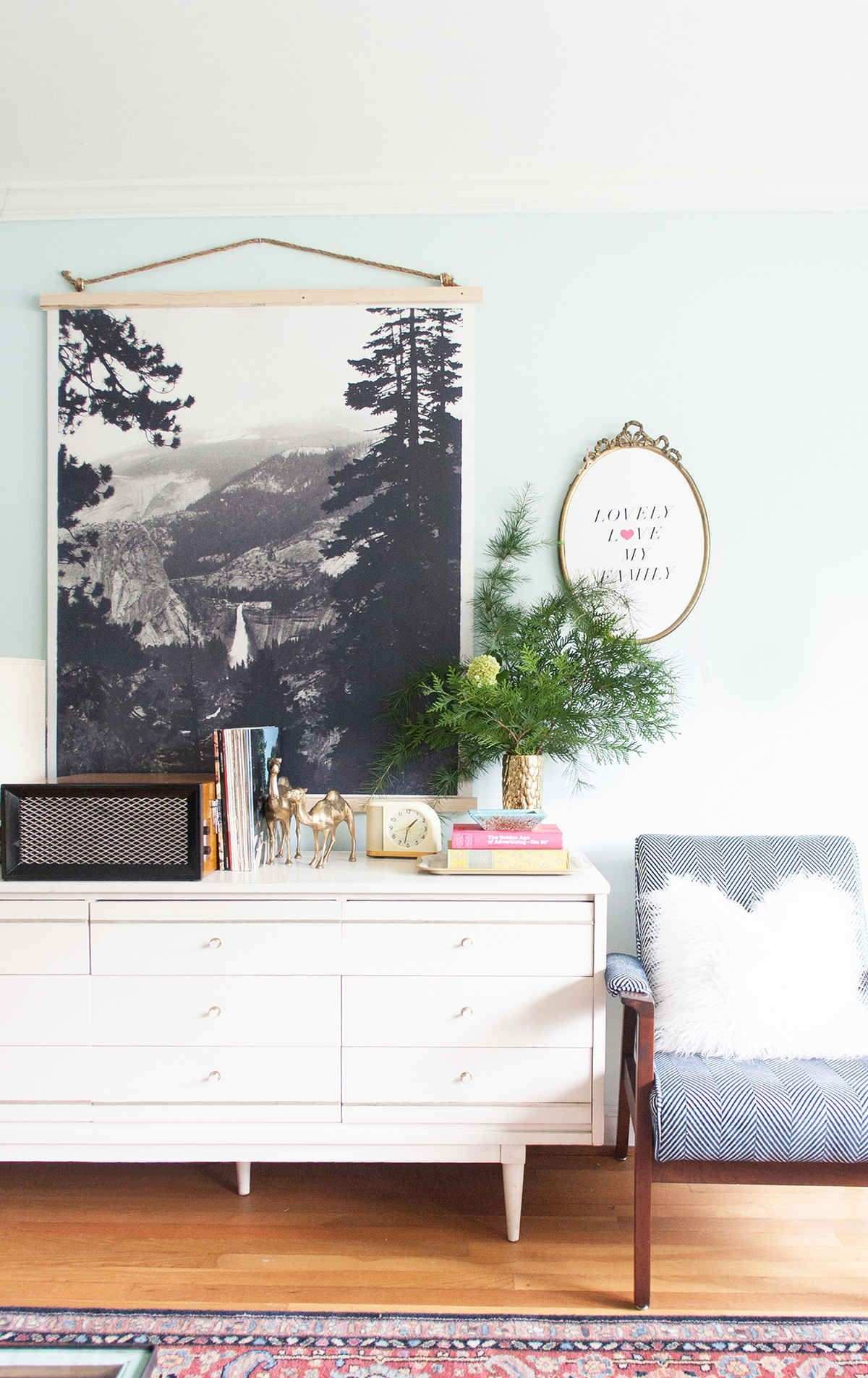 DIY black and white poster wall hanging Pinterest