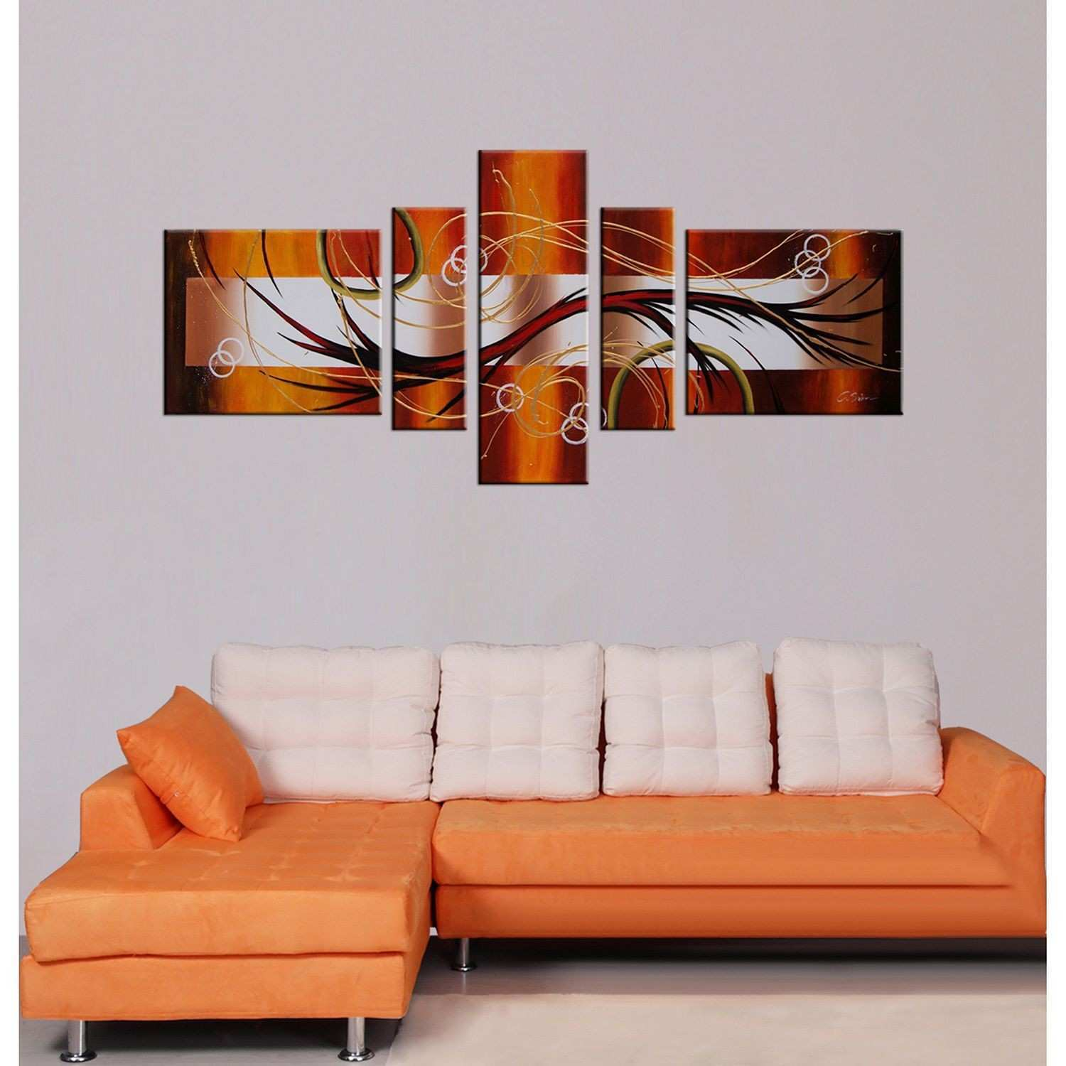 Fill the space on a large wall with this five piece oversized wall