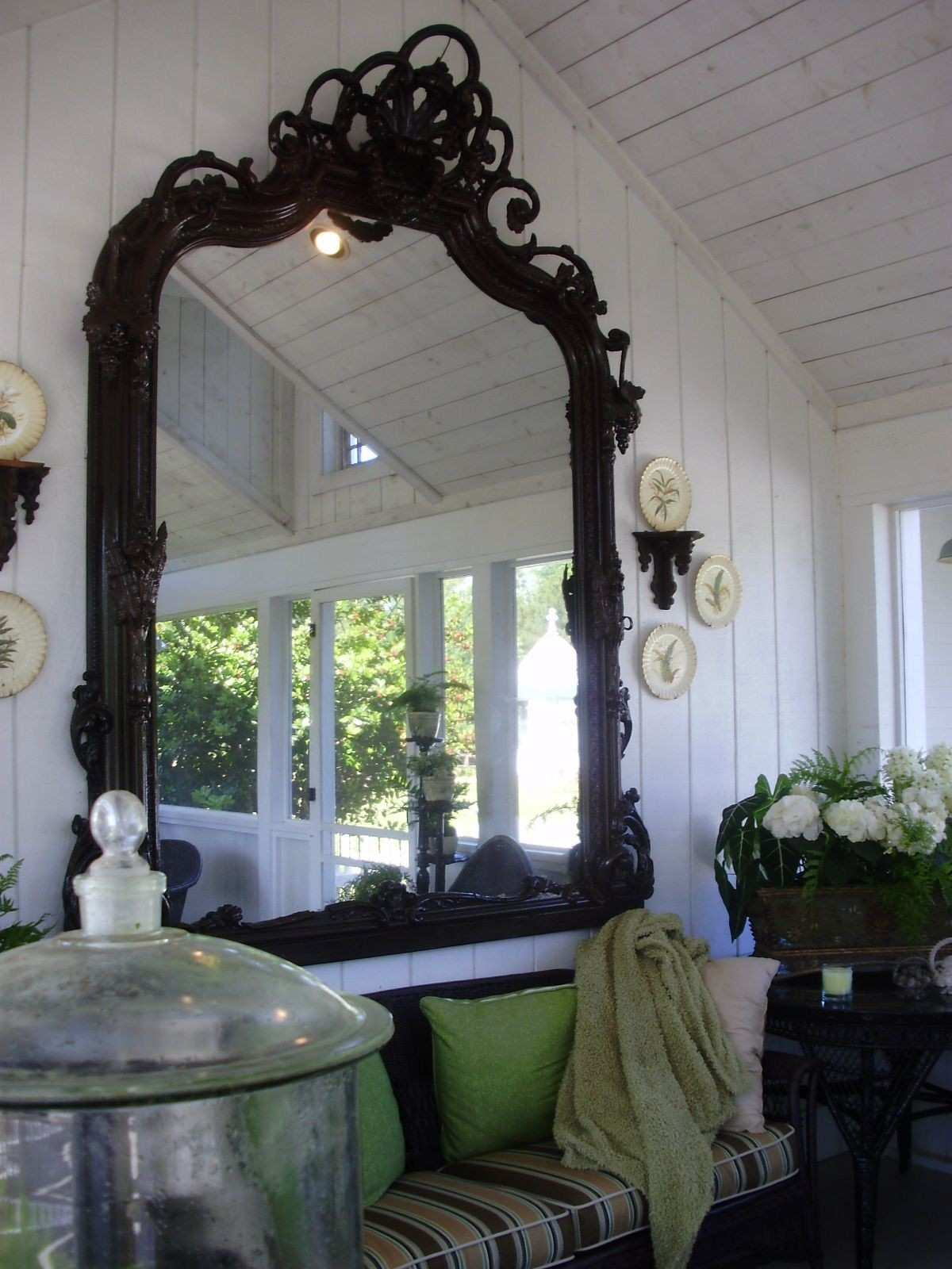 A mirror on the porch Now why didn t I think of that