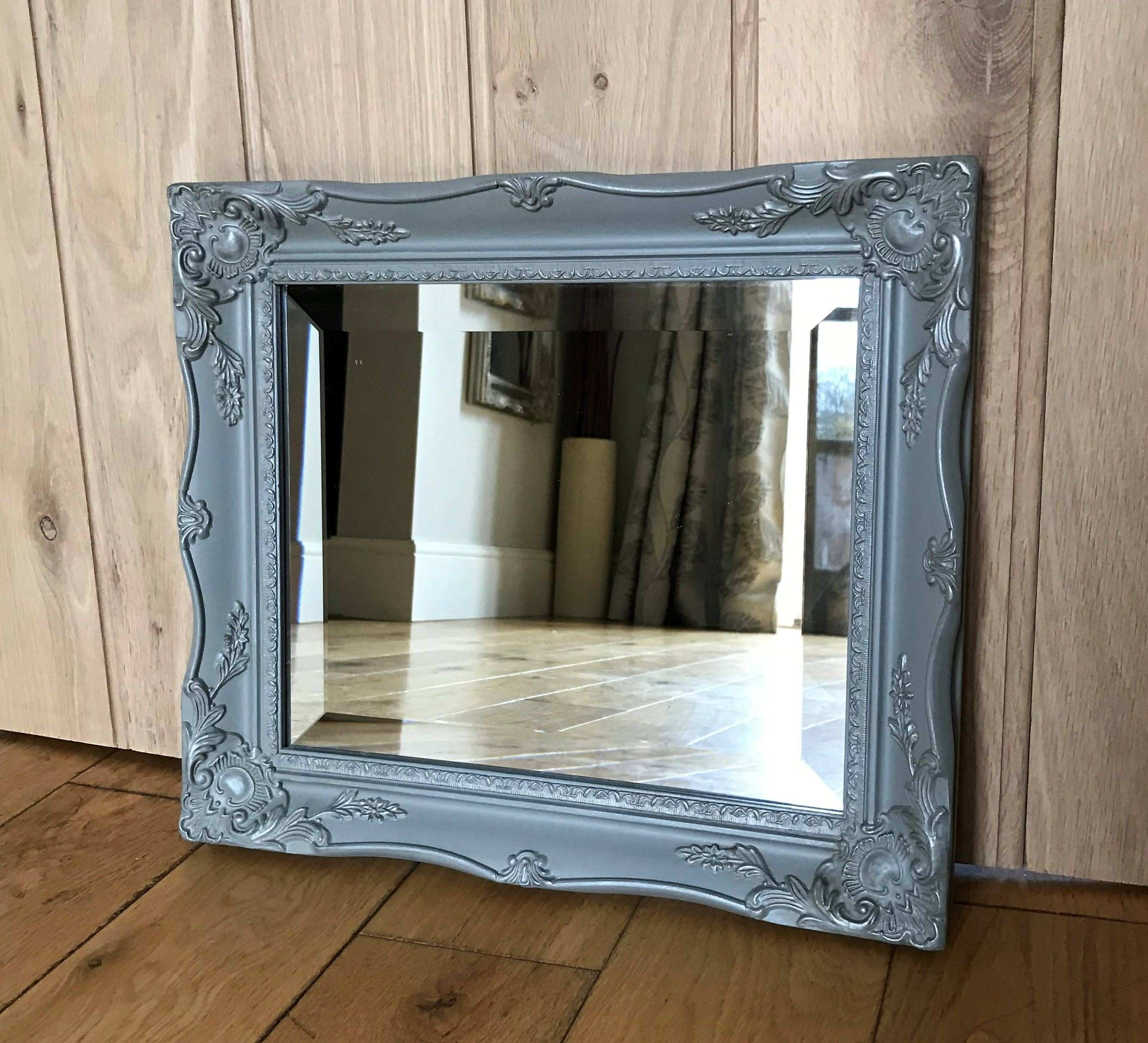 Grey Painted Ornate Mirror delivery quote available on request by