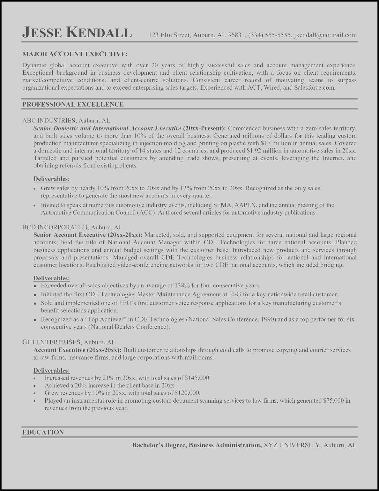 Management Resumes Resume Template for Management New Painter Resume