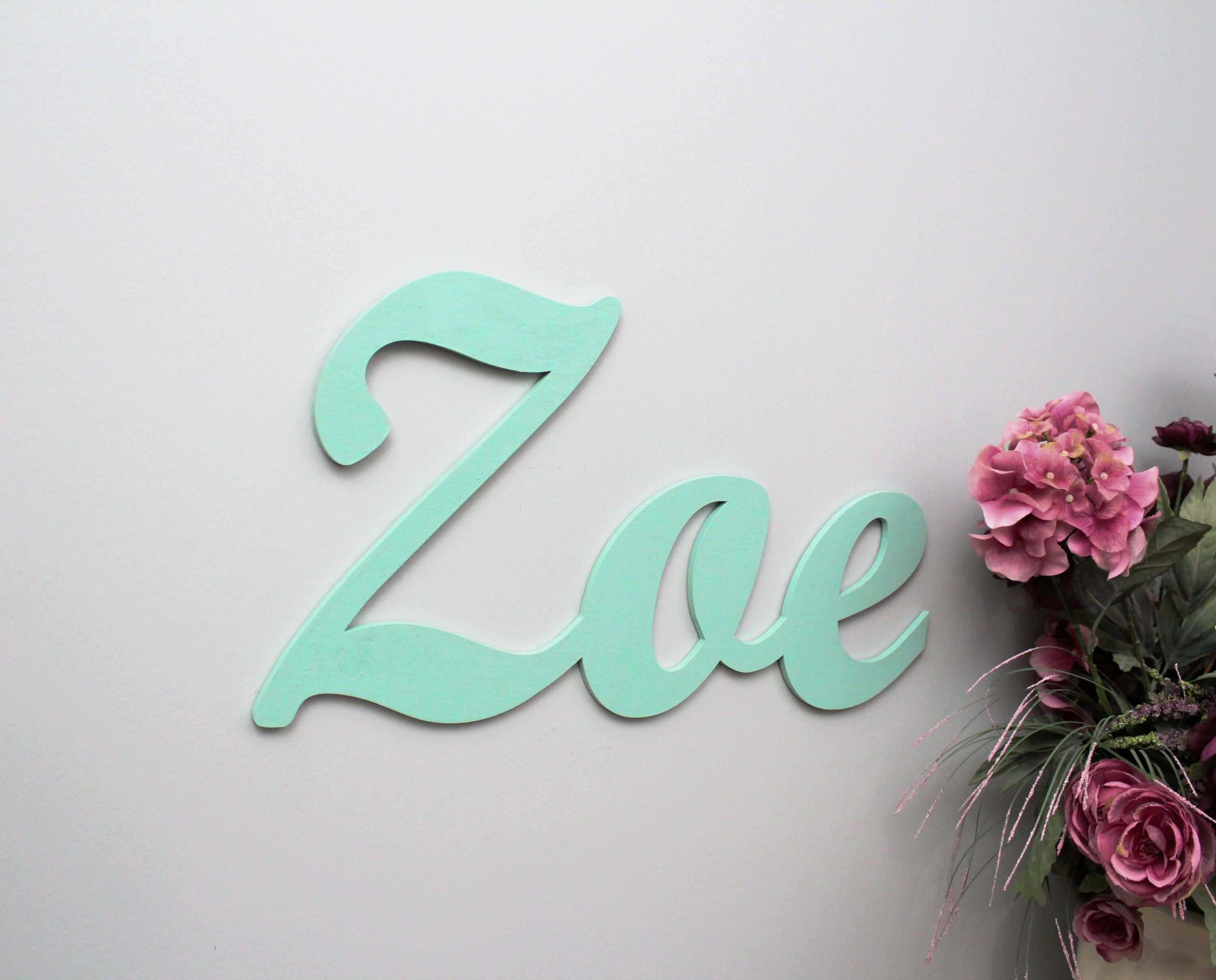 Wooden Letters Nursery Name Sign Nursery Decor Letters