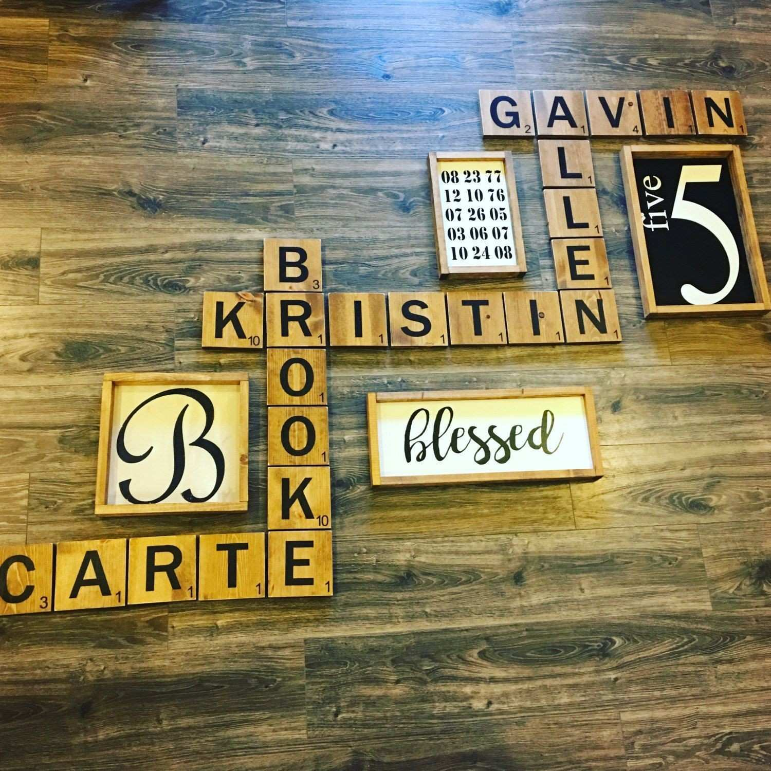 Scrabble wall tiles Scrabble wall art by TraylorMadeDesigns
