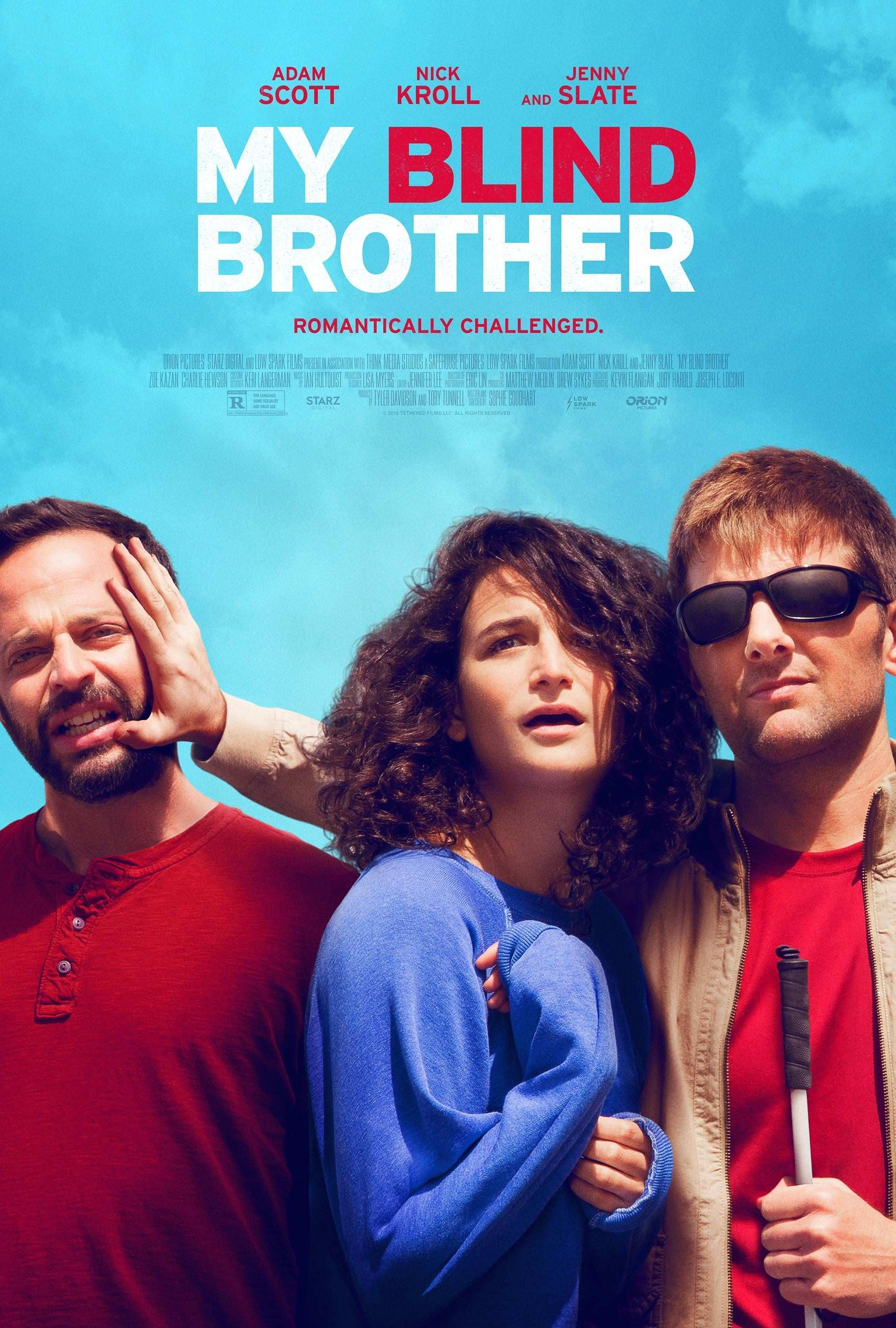 First poster for My Blind Brother starring Jenny Slate Nick Kroll