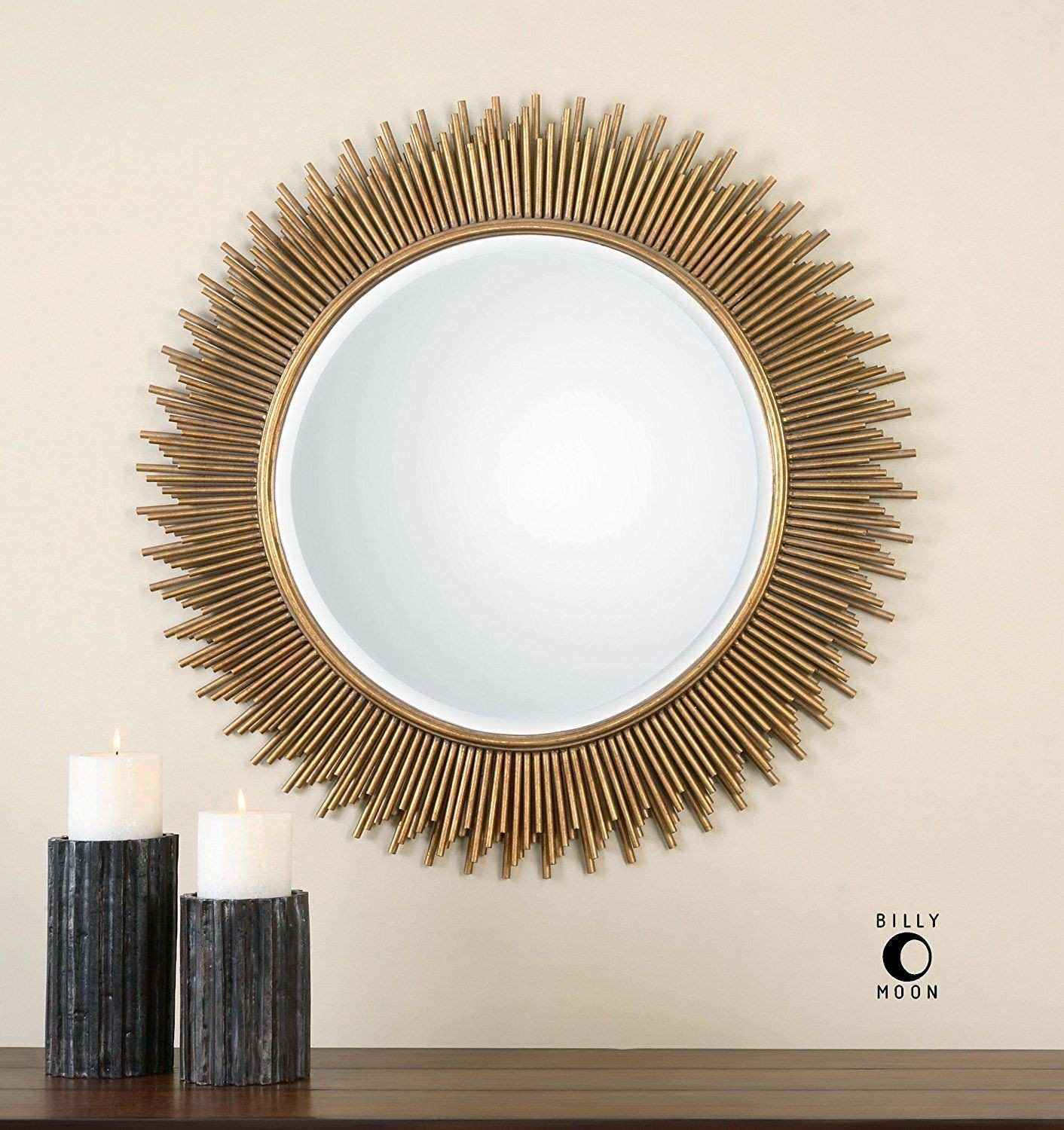 Round Sunburst Vanity Wall Mirror