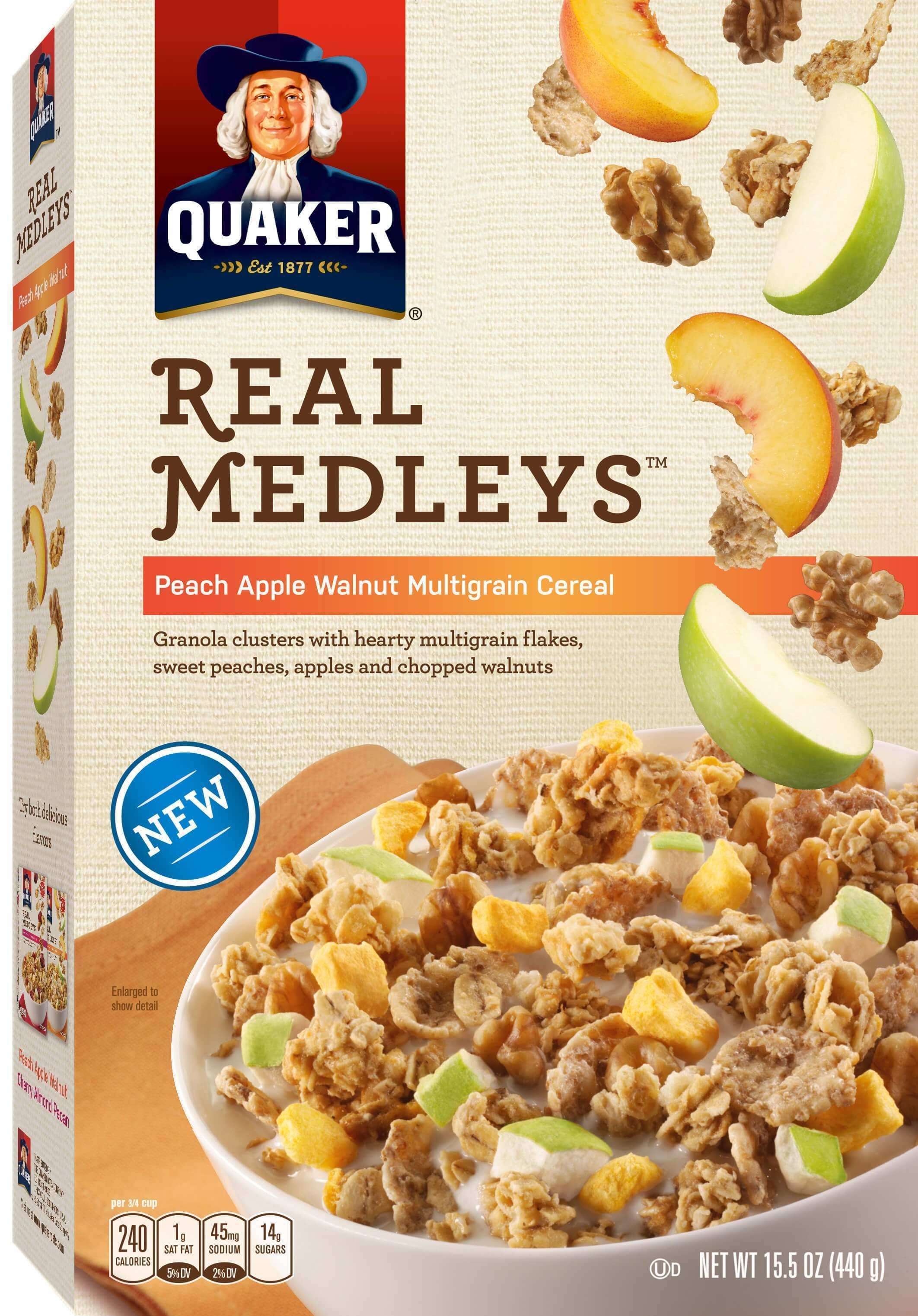 Product Cold Cereals Quaker Real Medleys Peach Apple Walnut