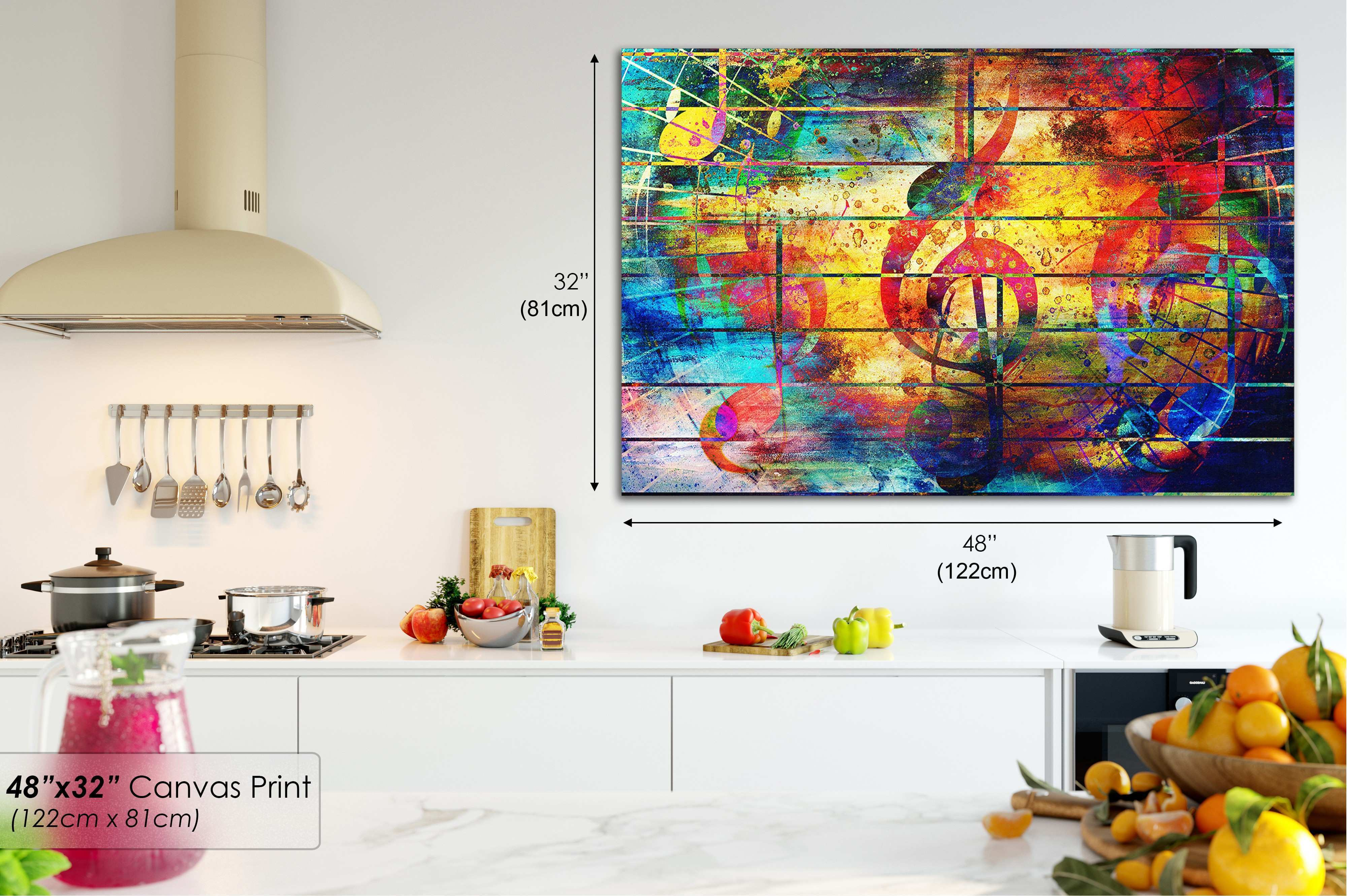AB1725 music yellow clef wall Abstract Wall Art Picture Canvas