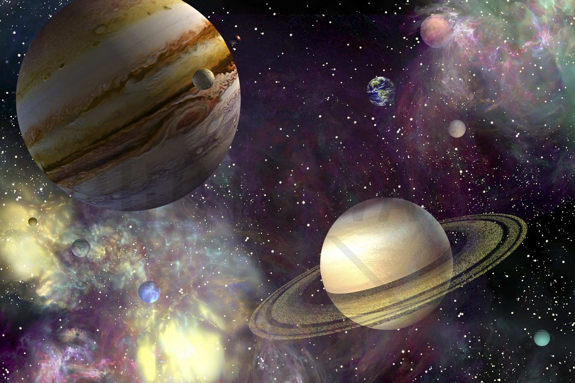 Our Solar System Wall Mural Room Decor Pinterest