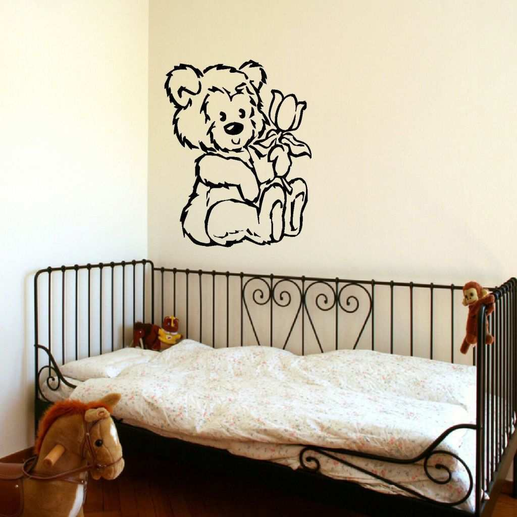 Large Wall Prints From Photos Best Of D309 Large Nursery Teddy Bear Baby Wall Art Stencil Sticker Transfer