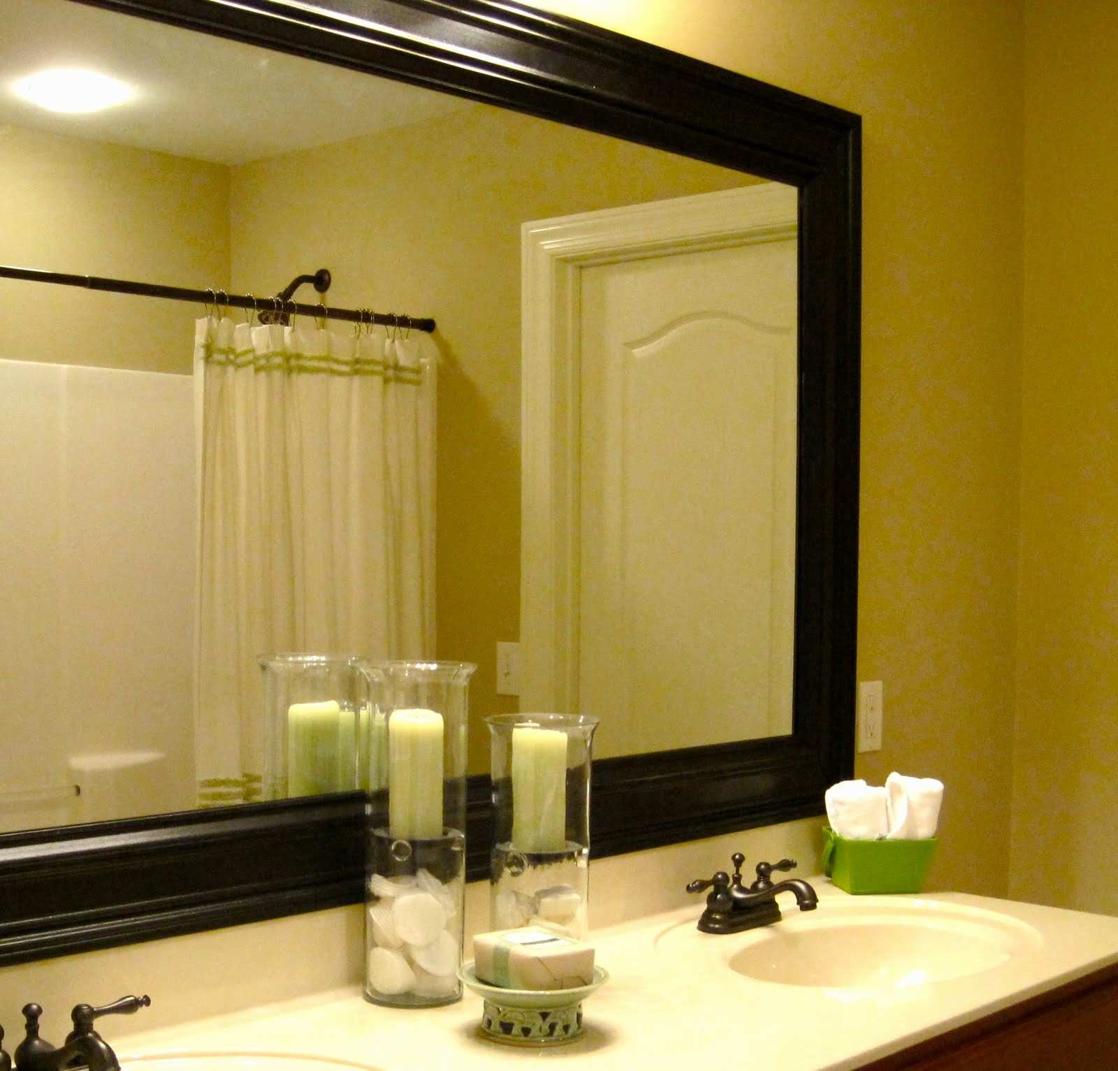 Home Designs White Framed Bathroom Mirror Beautiful Best Big
