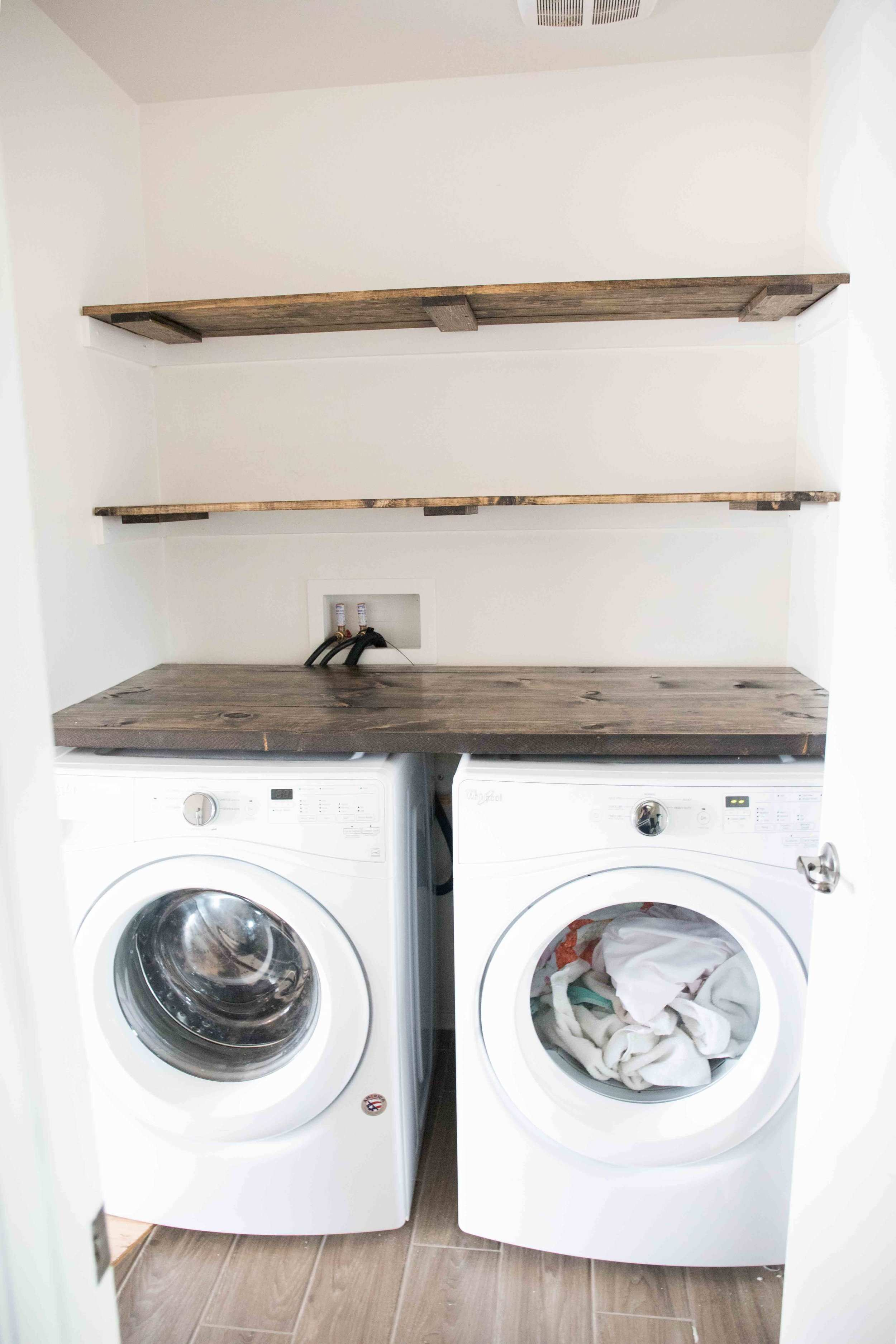 Farmhouse Inspired Laundry Room Tour and Organization The Mountain