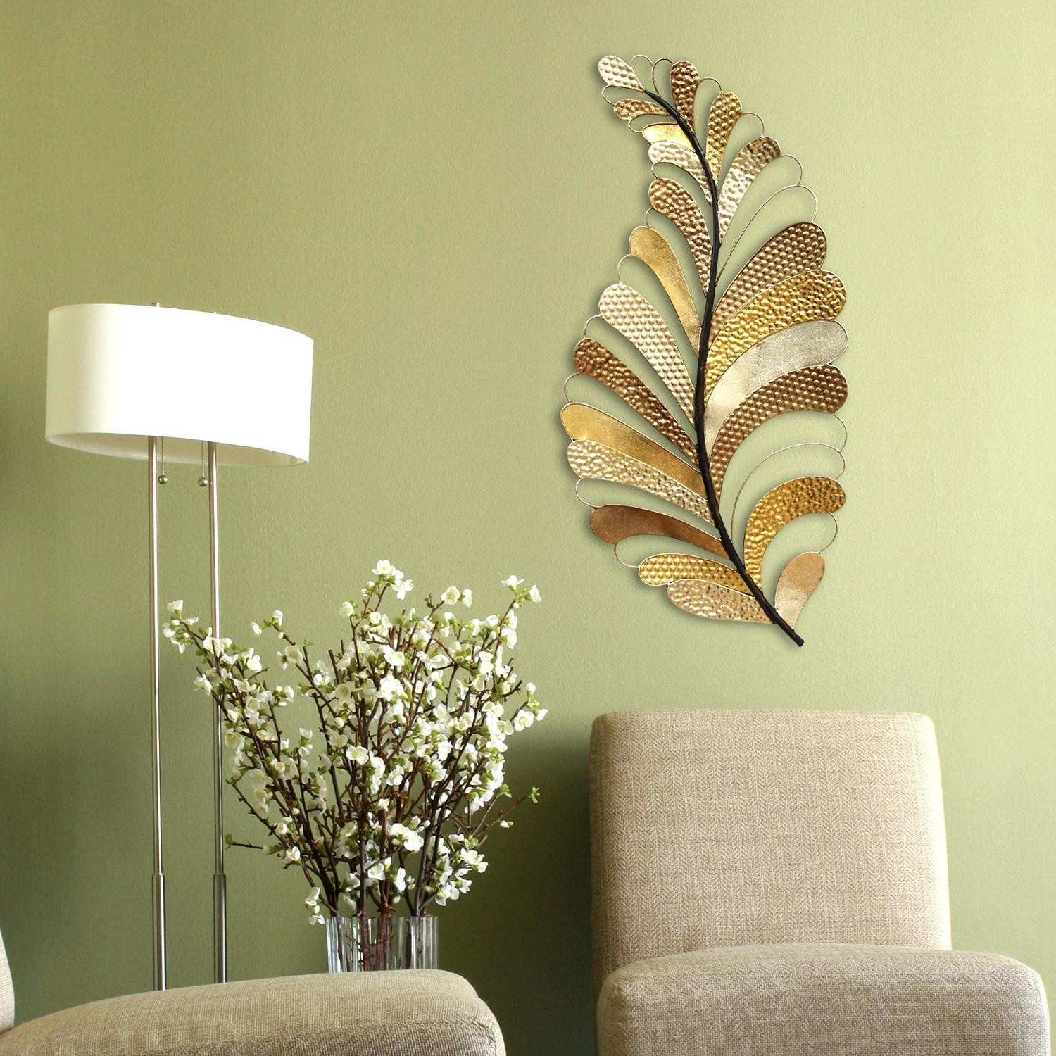 Leaf Wall Art Lovely Fantastic Metal Leaves Wall Decor Sketch the ...
