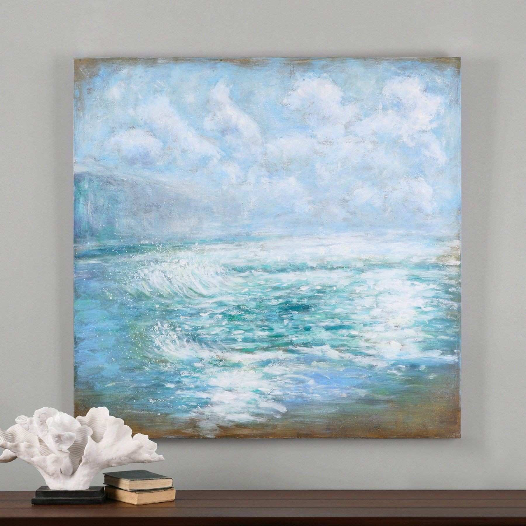 Uttermost Morning Swells Canvas Art 48W x 48H in