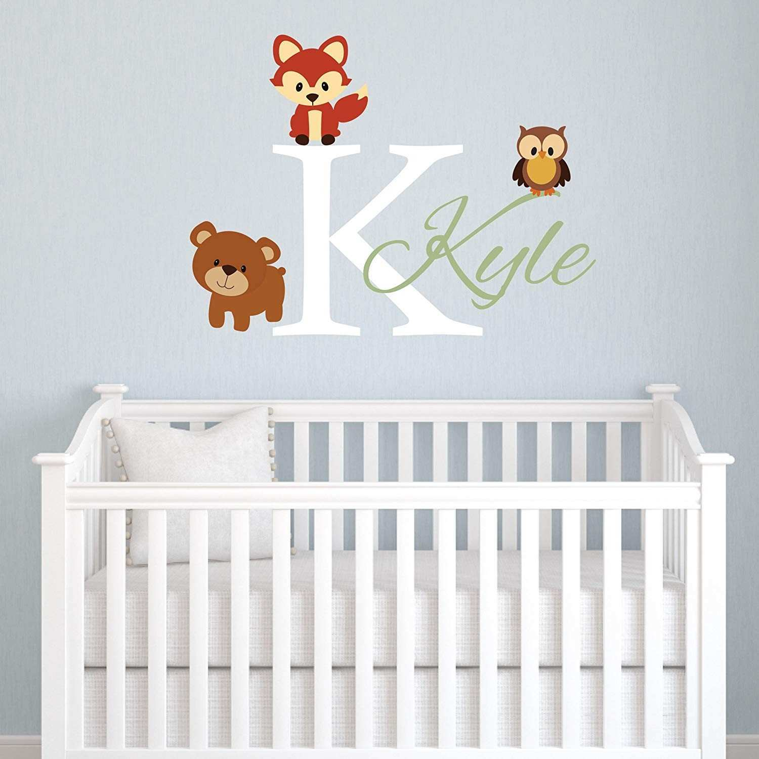 Amazon Animals Forest Friends Personalized Kids Name Wall Decal
