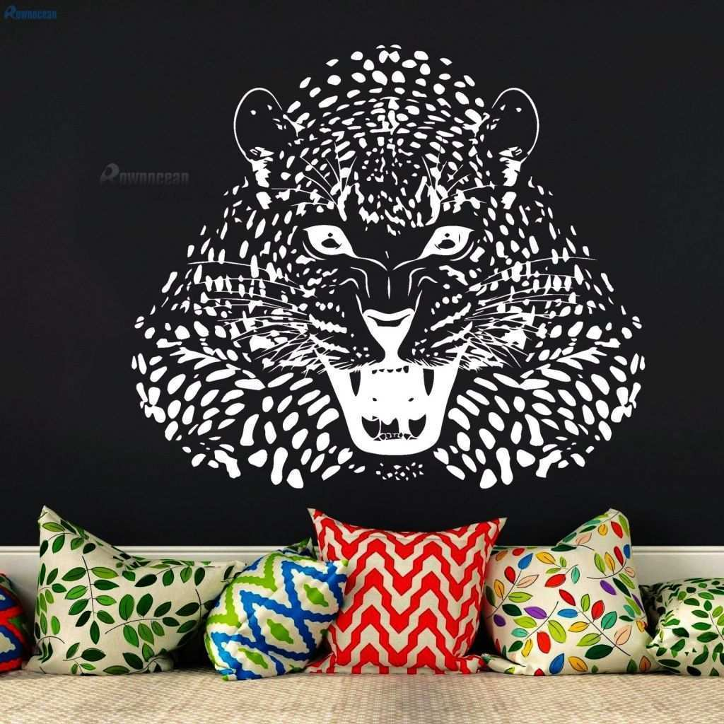 Leopard Print Decals for Walls Fresh Rownocean Animal Design Leopard Home Decor Wall Stickers Living Romm Vinyl Wall Decals Removable Mural Cat Diy Wallpaper D595 In Wall Stickers From