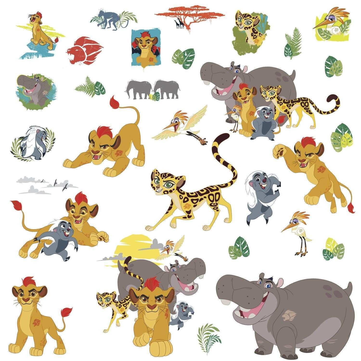 Amazon Disney The Lion Guard Peel and Stick Wall Decals Home