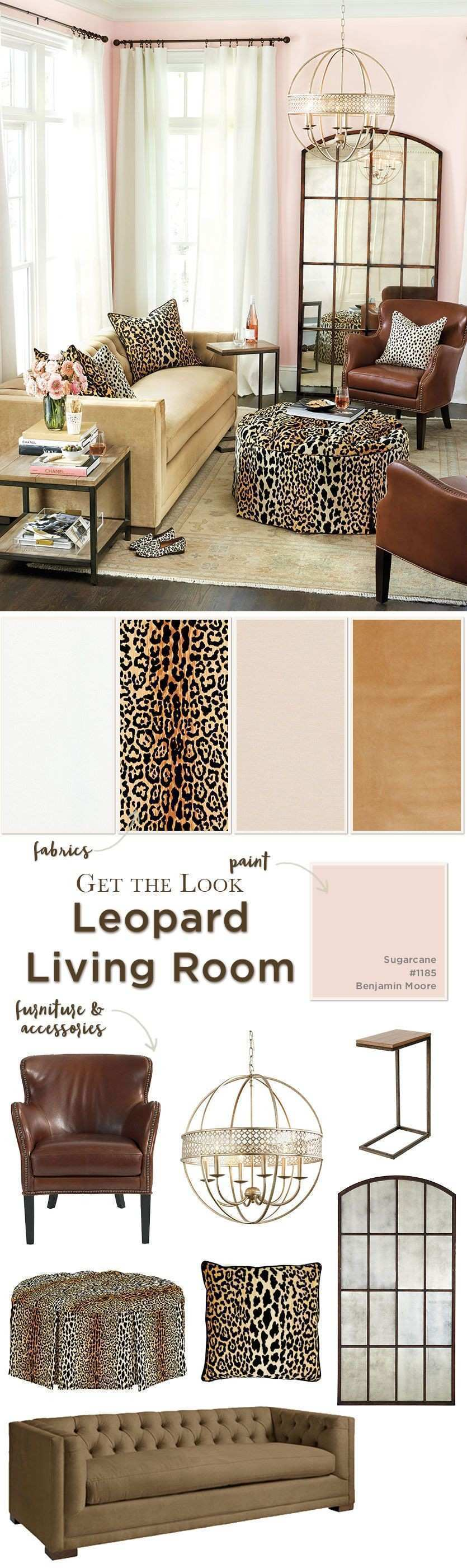 Get the look leopard living room Pinterest