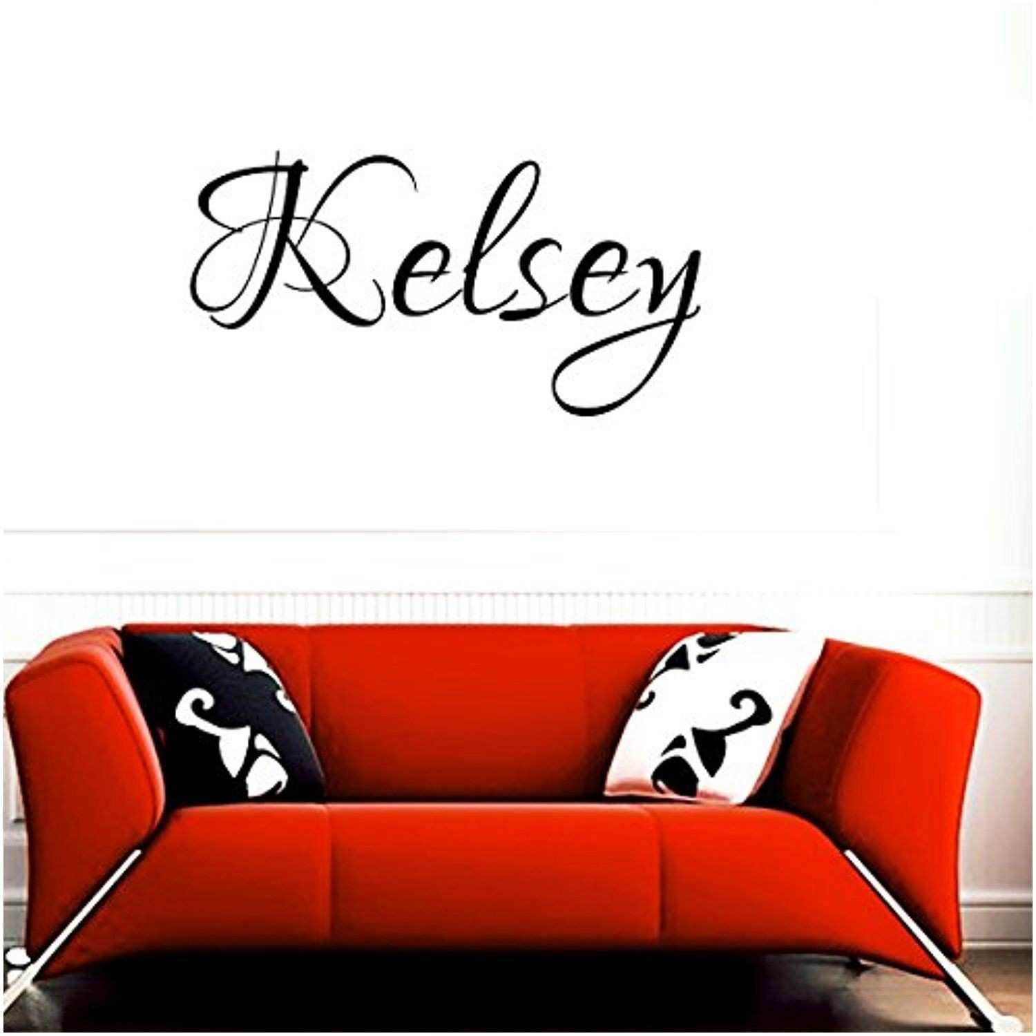 Wall Decal Letters Kelsey Girl Name Boy Name Letters Childrens Room