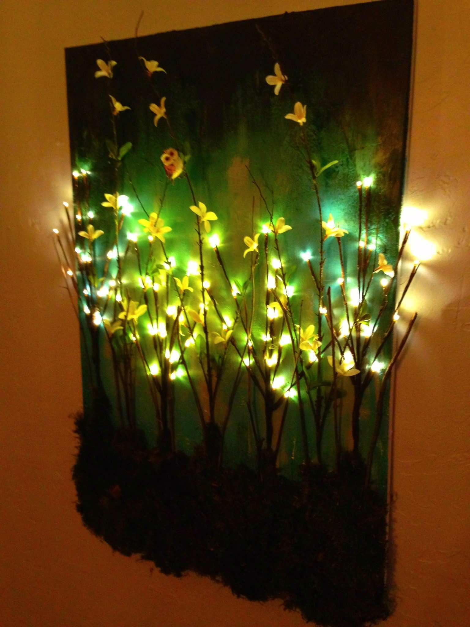 Dorable Lights Wall Decor Wall Painting Ideas