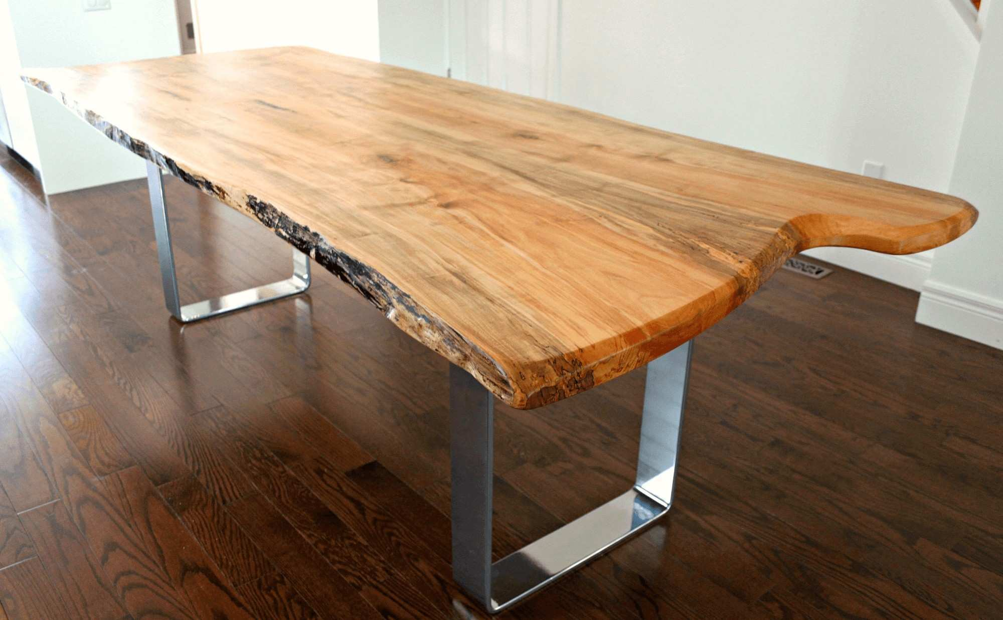 Elegant Live Wood Dining Table