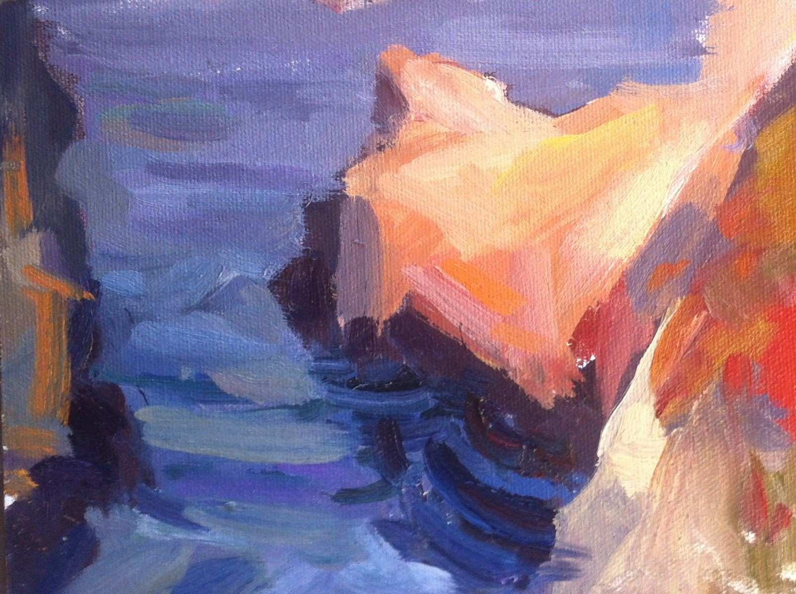 Sobranies Big Sur CA landscape painting oil