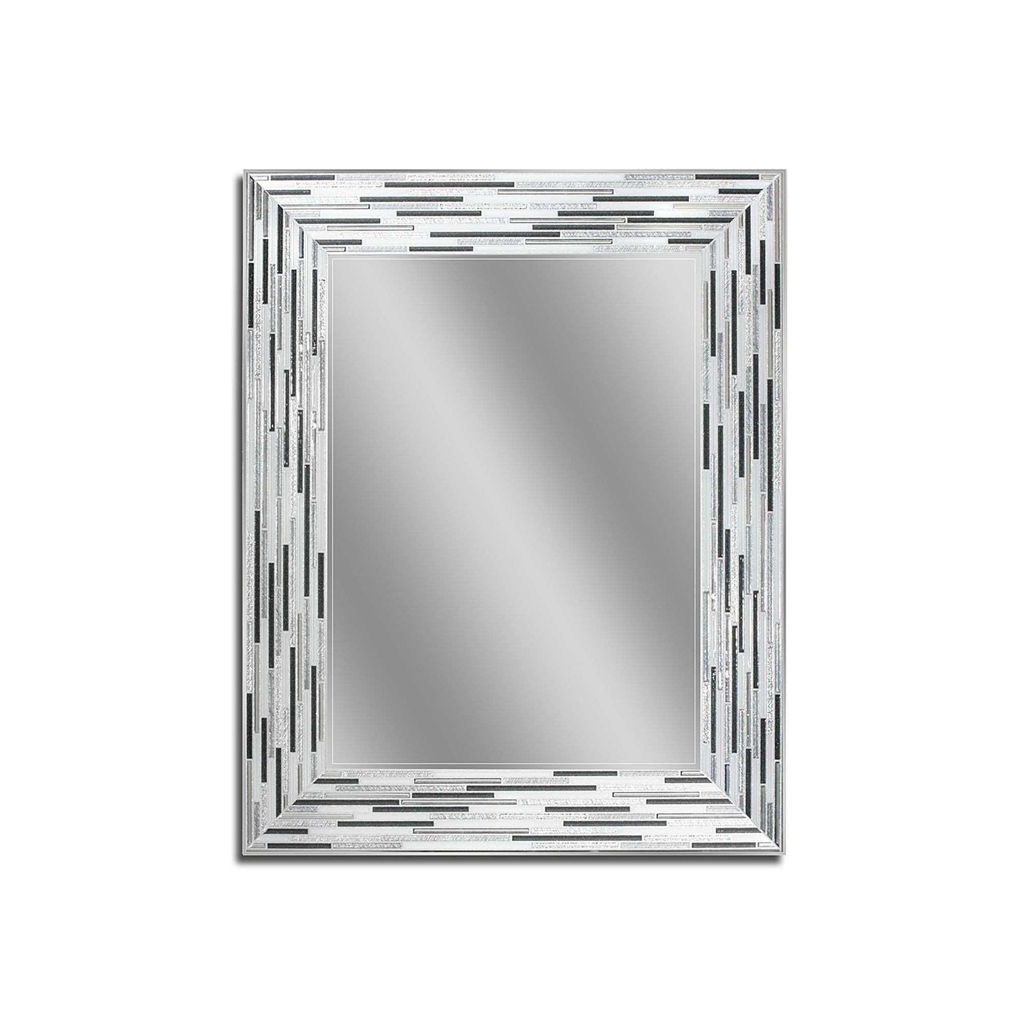 Head West Reeded Wall Mirror Silver