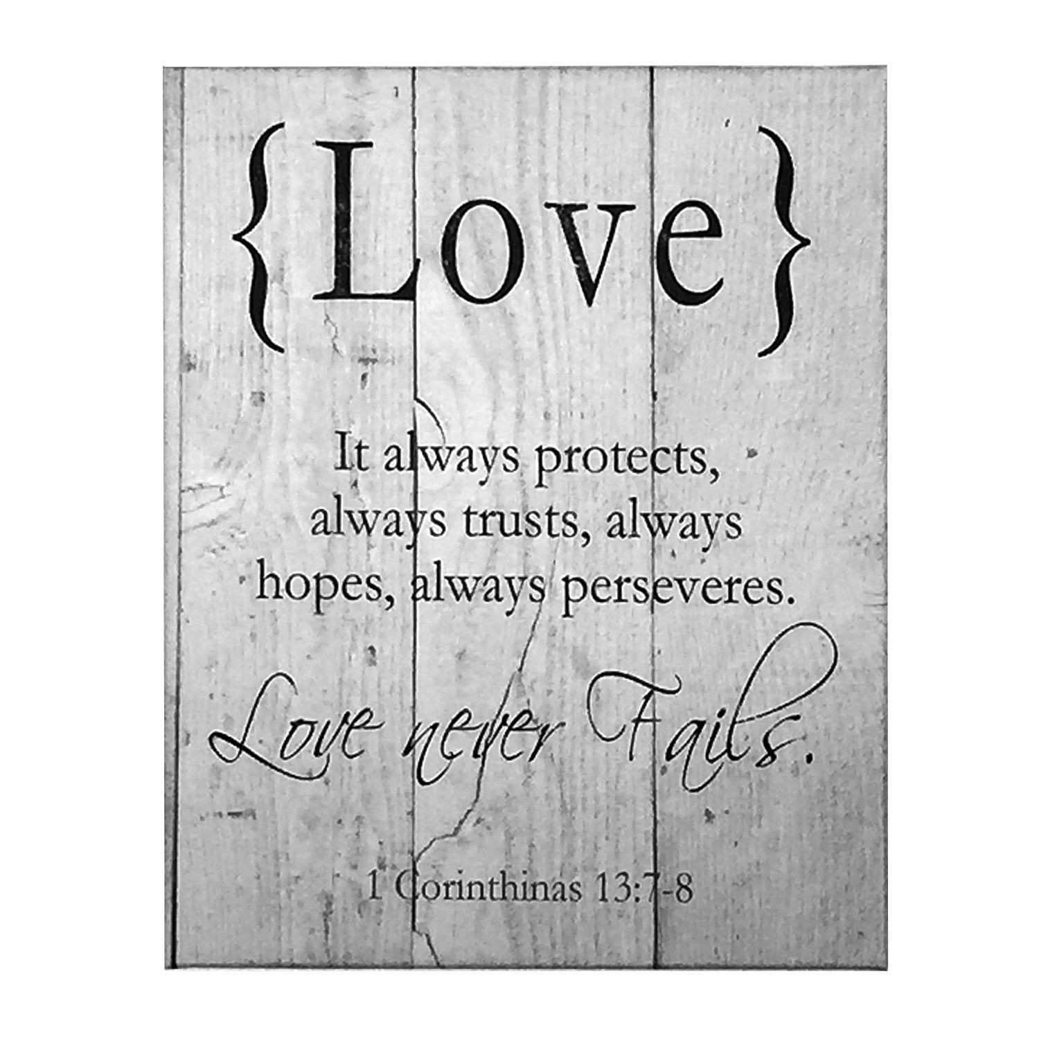 LOVE Canvas Art Wall Decor 1 Corinthians Scripture Verse Art