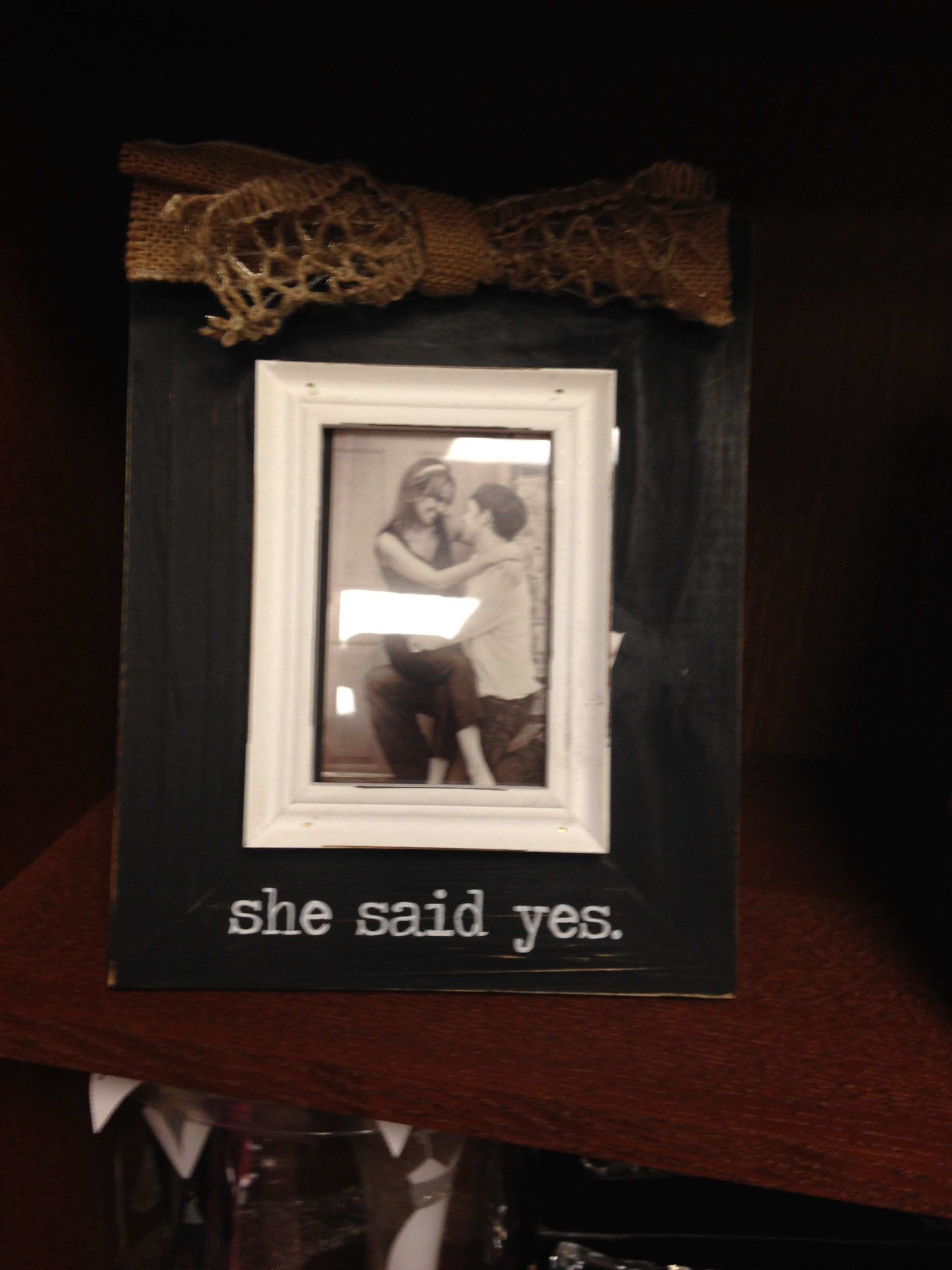 New 50 She Said Yes Picture Frame