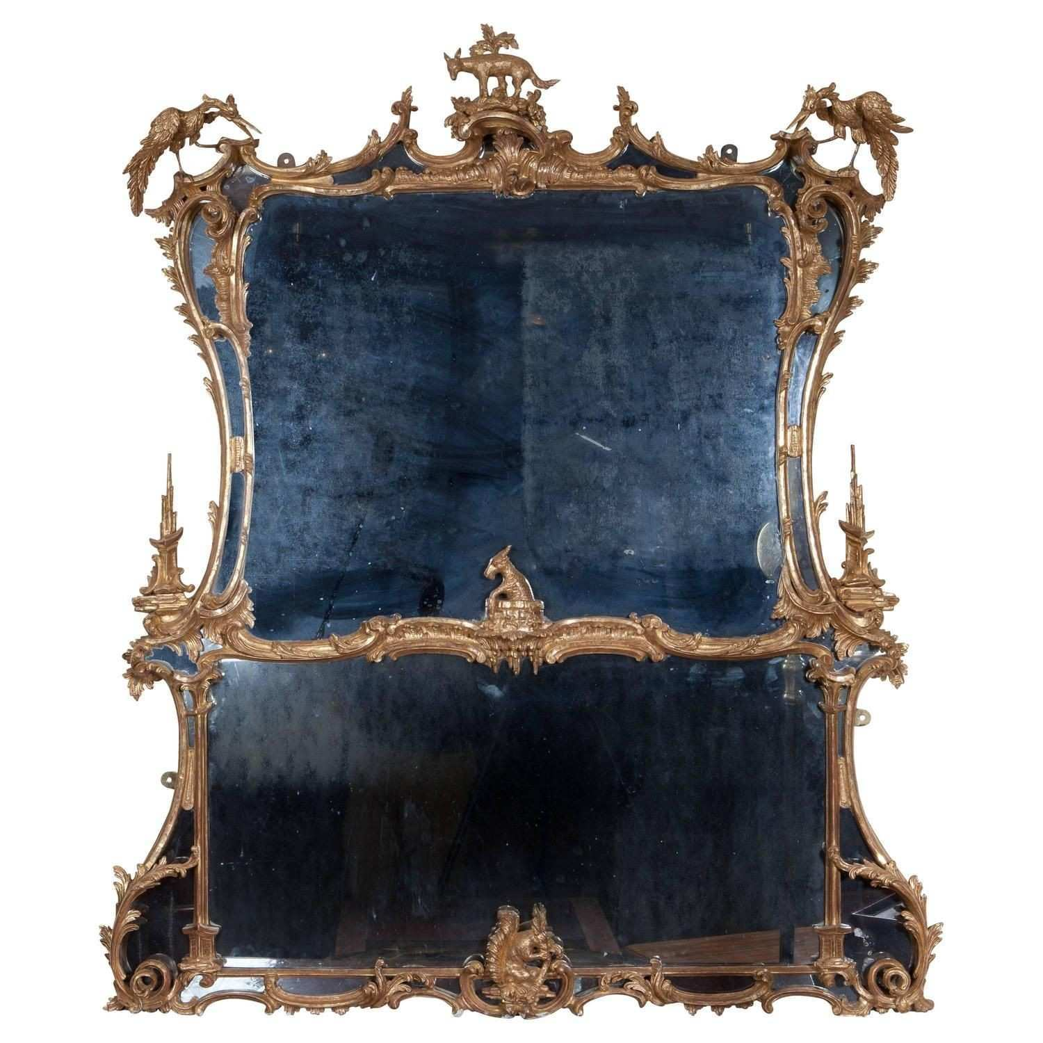 Chippendale Giltwood Mirror After Aesop s Fables