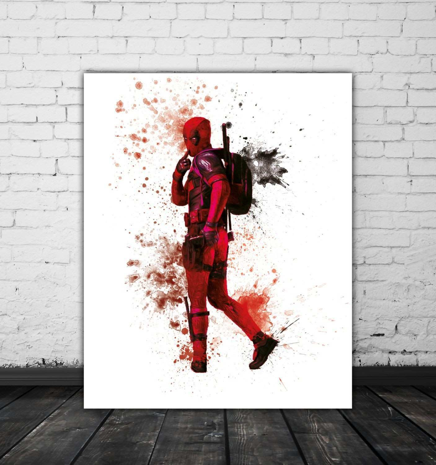 Deadpool Art Marvel Print Superhero Art Movie Wall Art