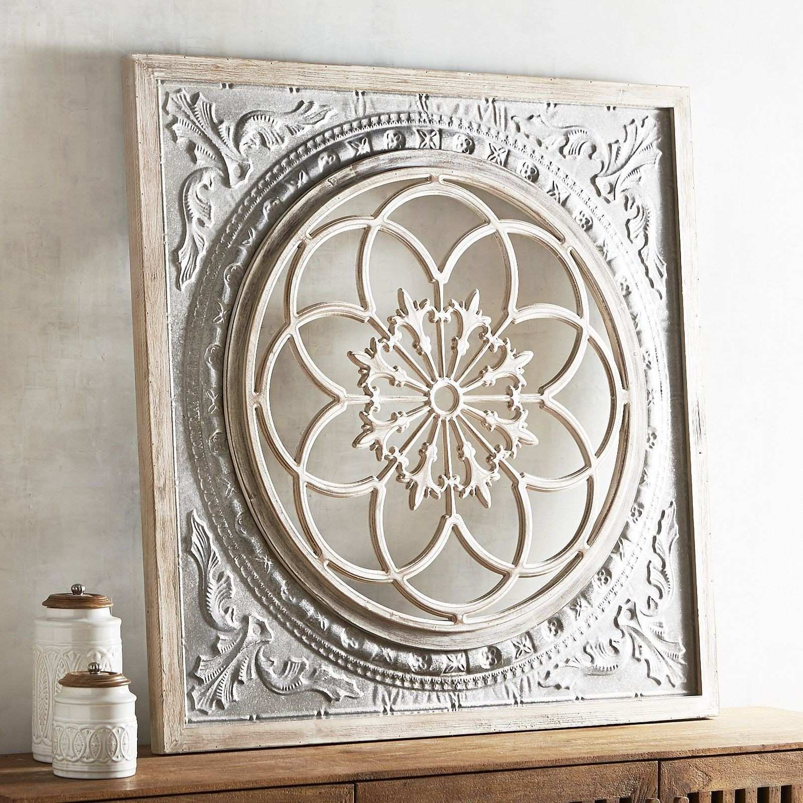 Pier 1 Imports Galvanized Medallion Wall Decor Design Wood