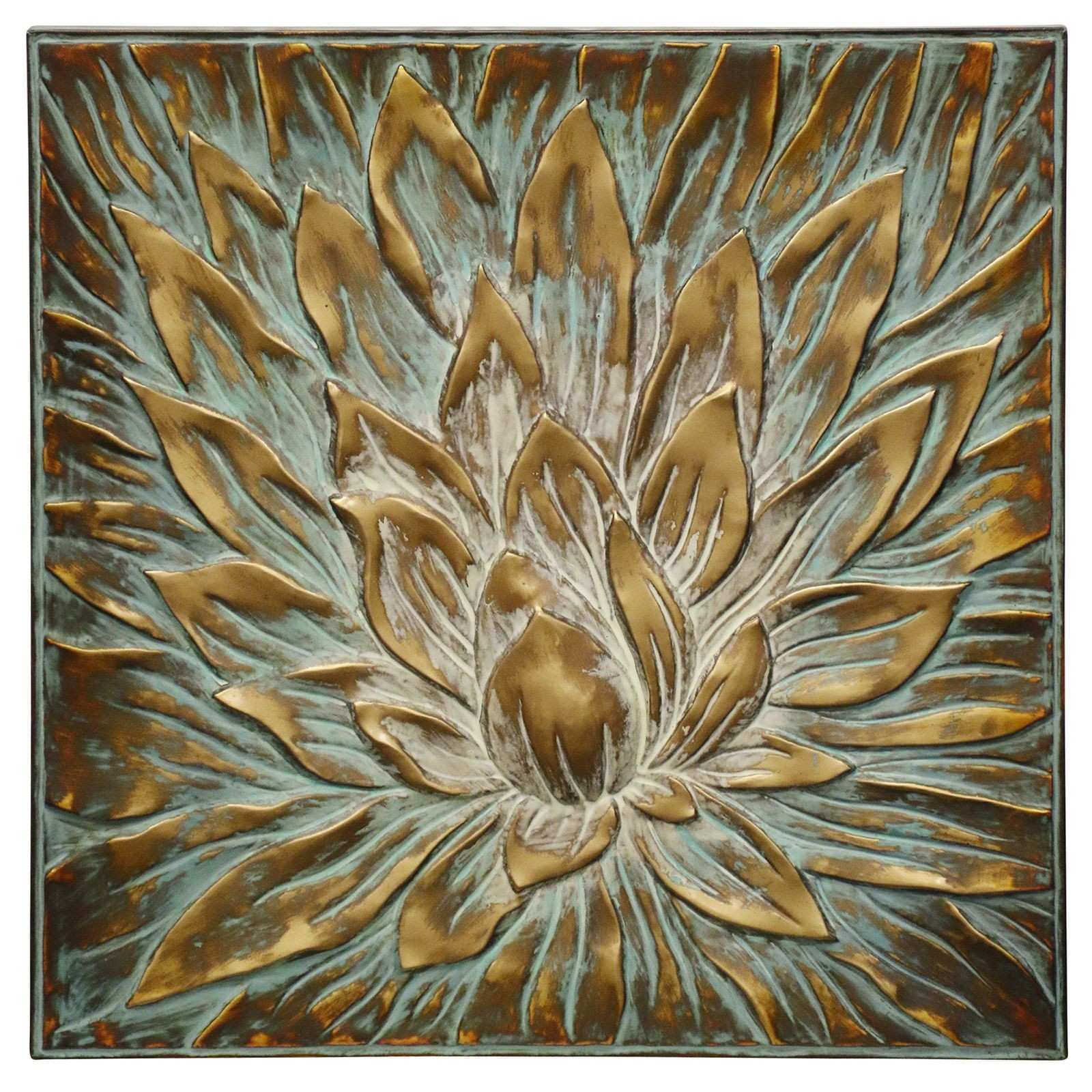 Golden Patina Floral Stamped Metal Wall Decor Pier 1 Imports
