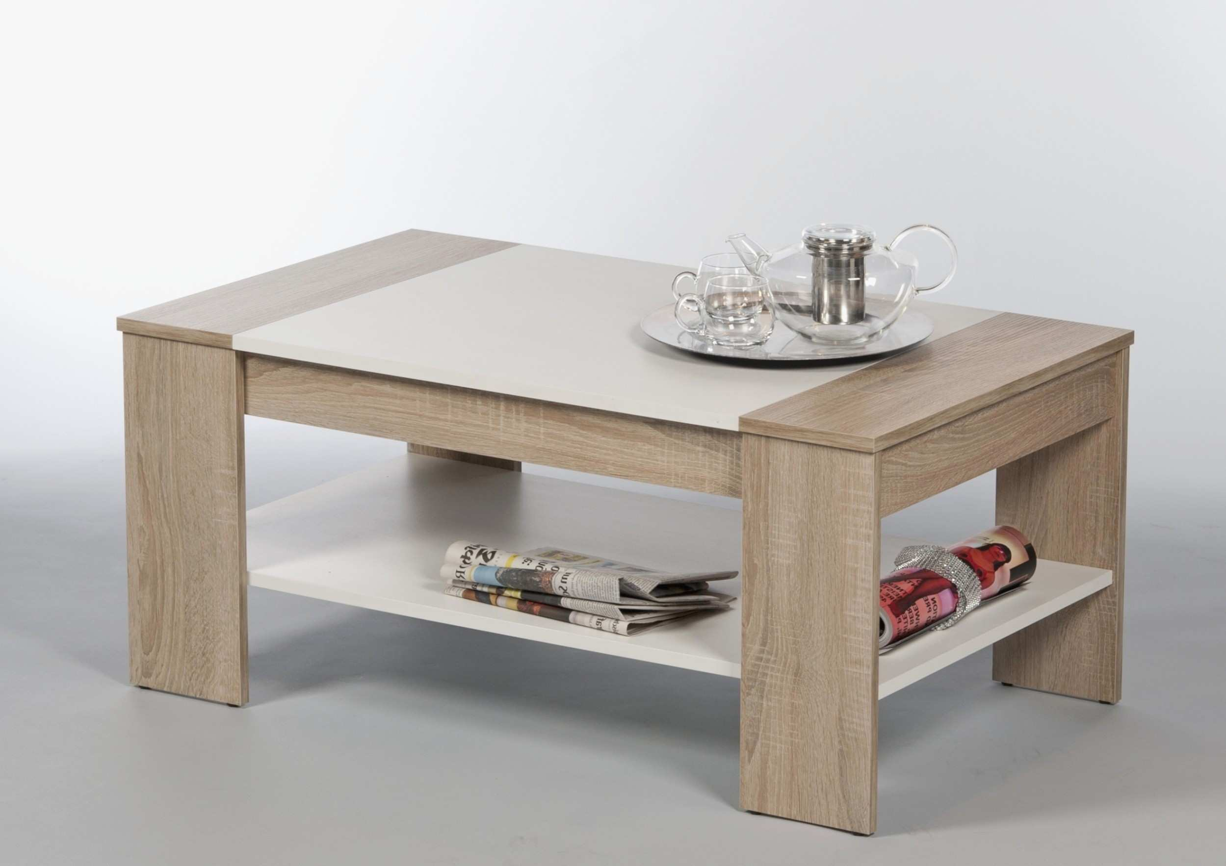 Wood Metal Coffee Table Home Decor Plus Lovely Kaffetisch